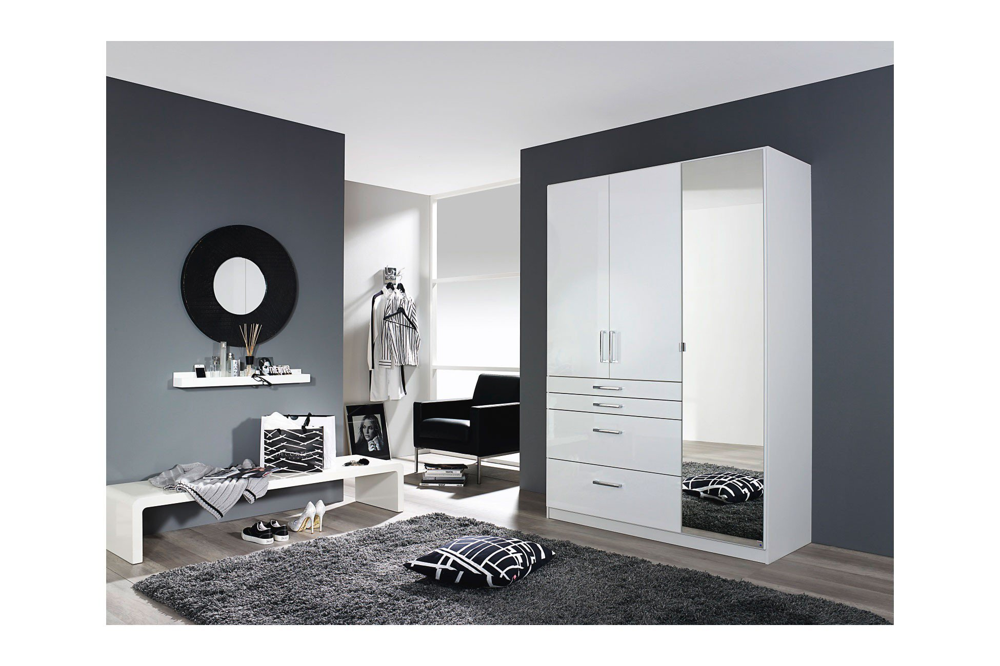 rauch homburg kombischrank front hochglanz wei m bel letz ihr online shop. Black Bedroom Furniture Sets. Home Design Ideas