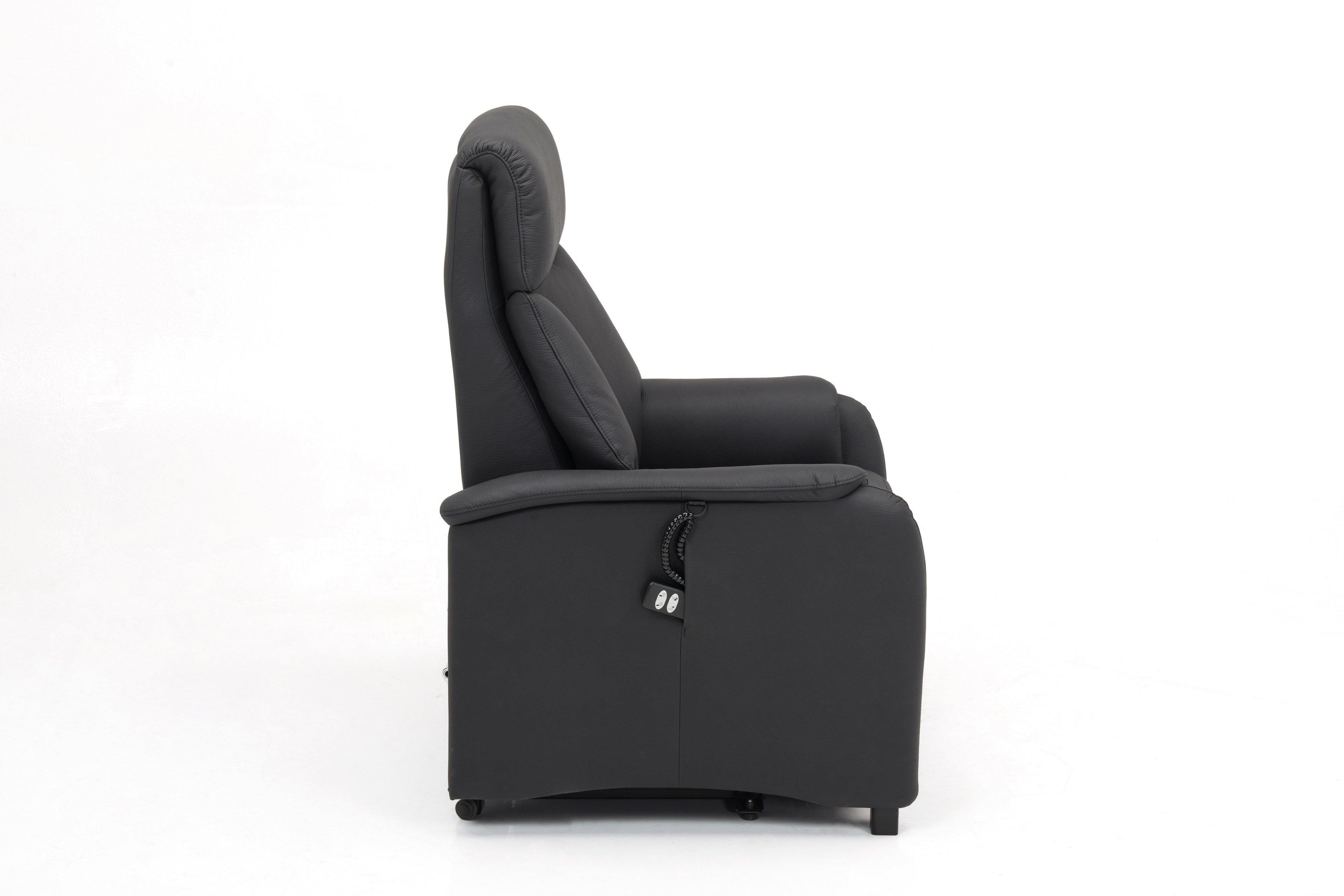 skandinavische m bel dilja funktionssessel in schwarz m bel letz ihr online shop. Black Bedroom Furniture Sets. Home Design Ideas