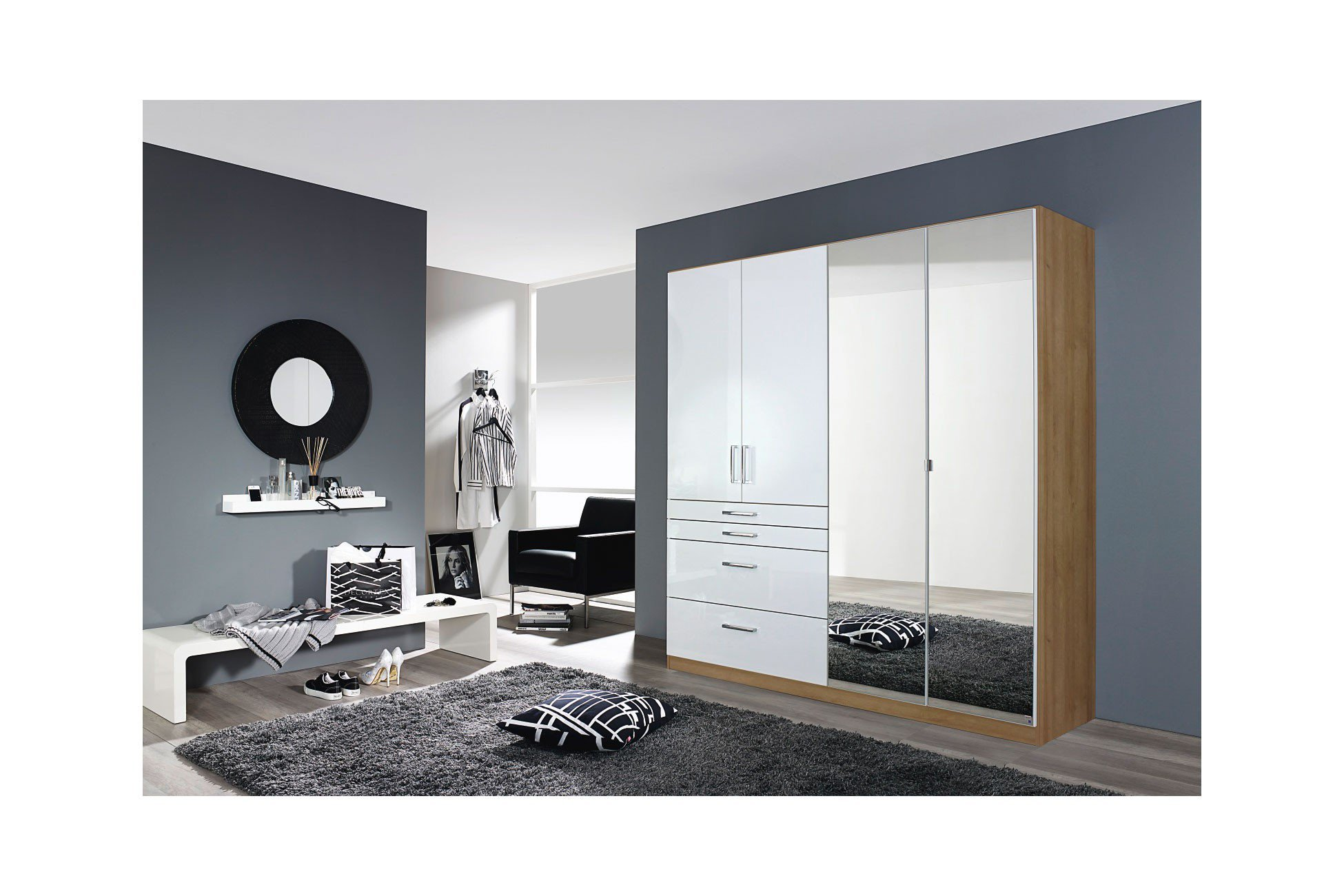 rauch homburg kombischrank 4 t rig wei eiche m bel letz ihr online shop. Black Bedroom Furniture Sets. Home Design Ideas