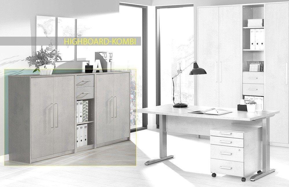 welle planeo schreibtisch beton m bel letz ihr online shop. Black Bedroom Furniture Sets. Home Design Ideas