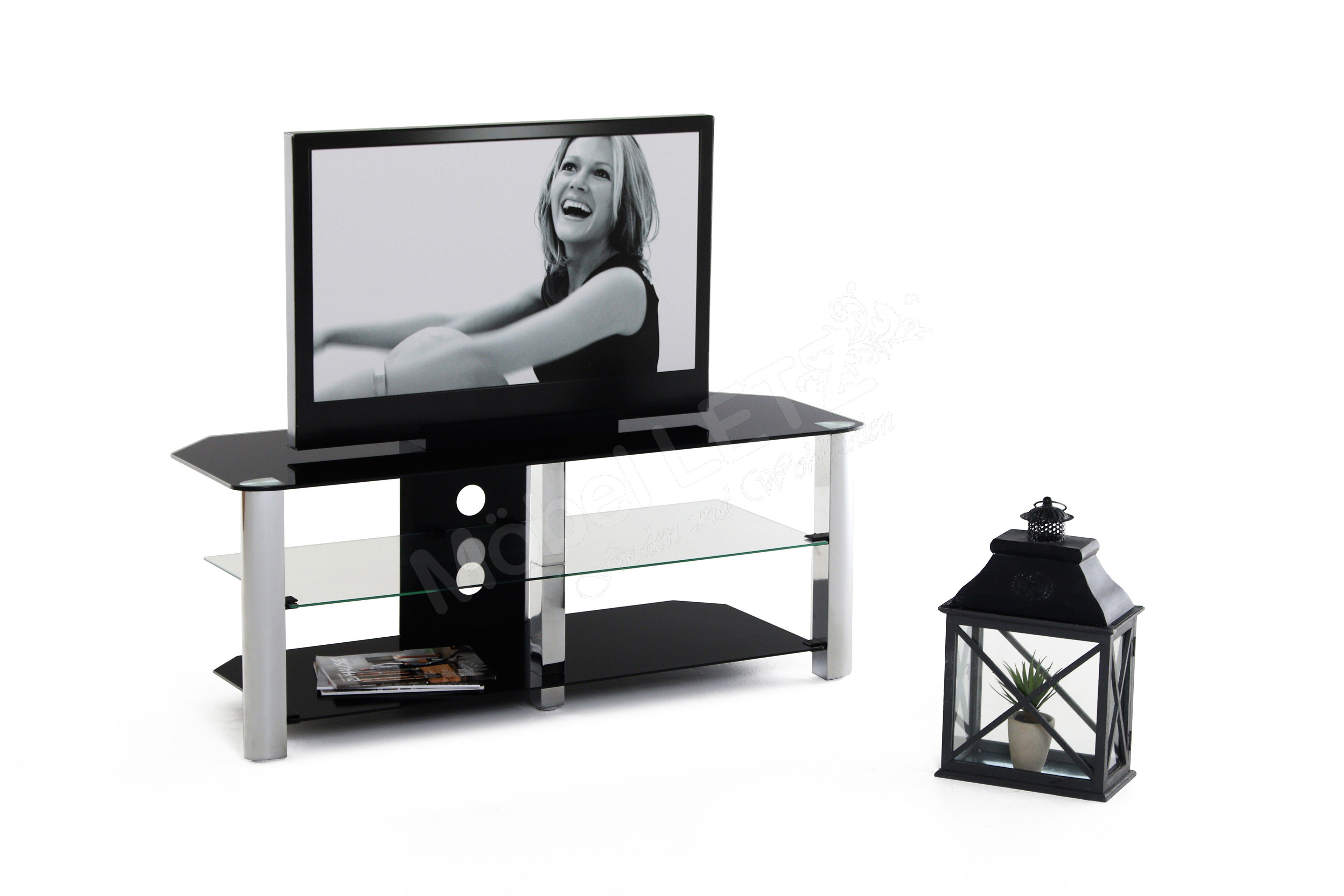 tv rack cuubra schwarz metall aus der kollektion letz. Black Bedroom Furniture Sets. Home Design Ideas