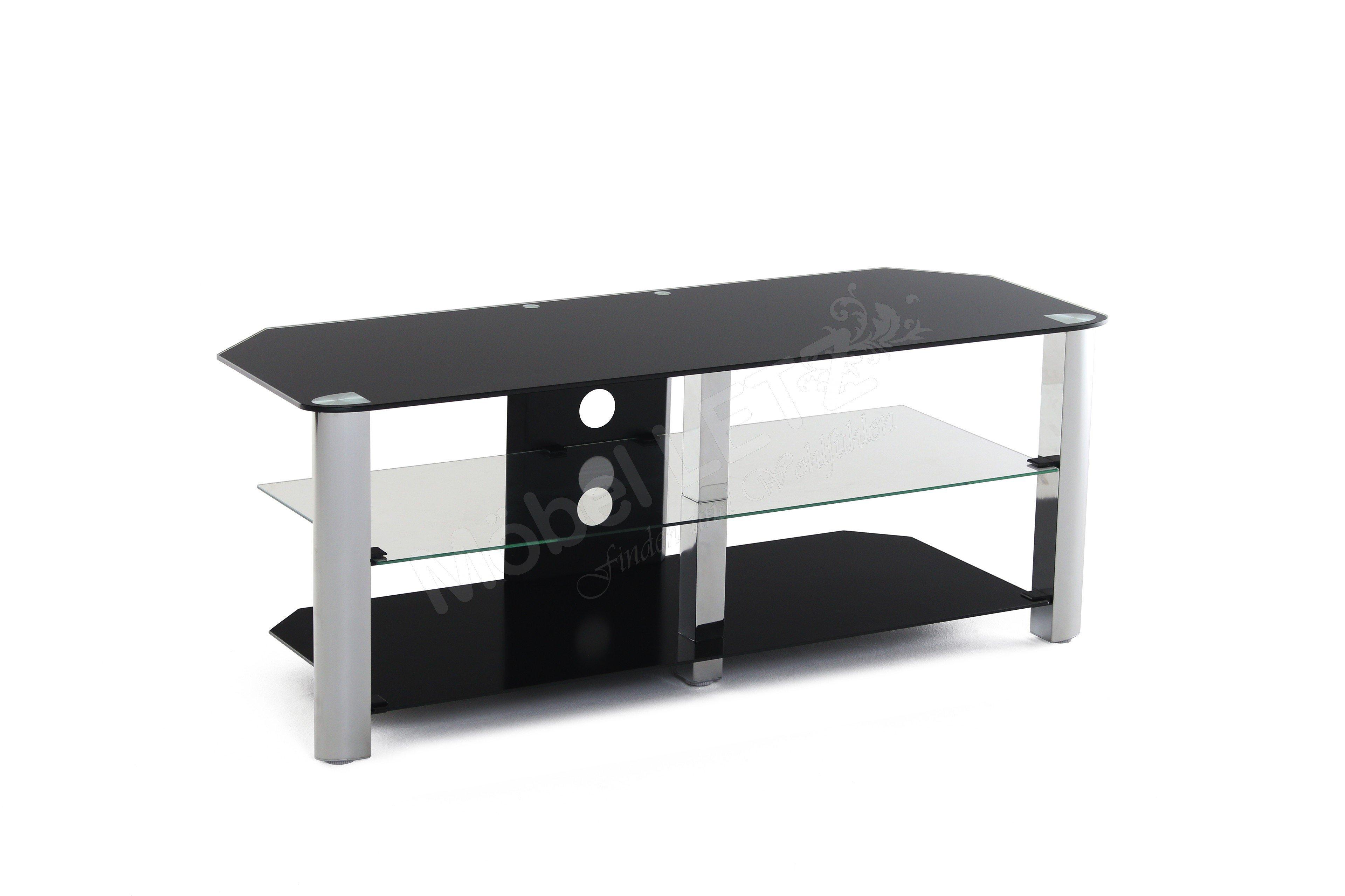 kollektion letz tv rack cuubra mit 3 glasb den m bel. Black Bedroom Furniture Sets. Home Design Ideas
