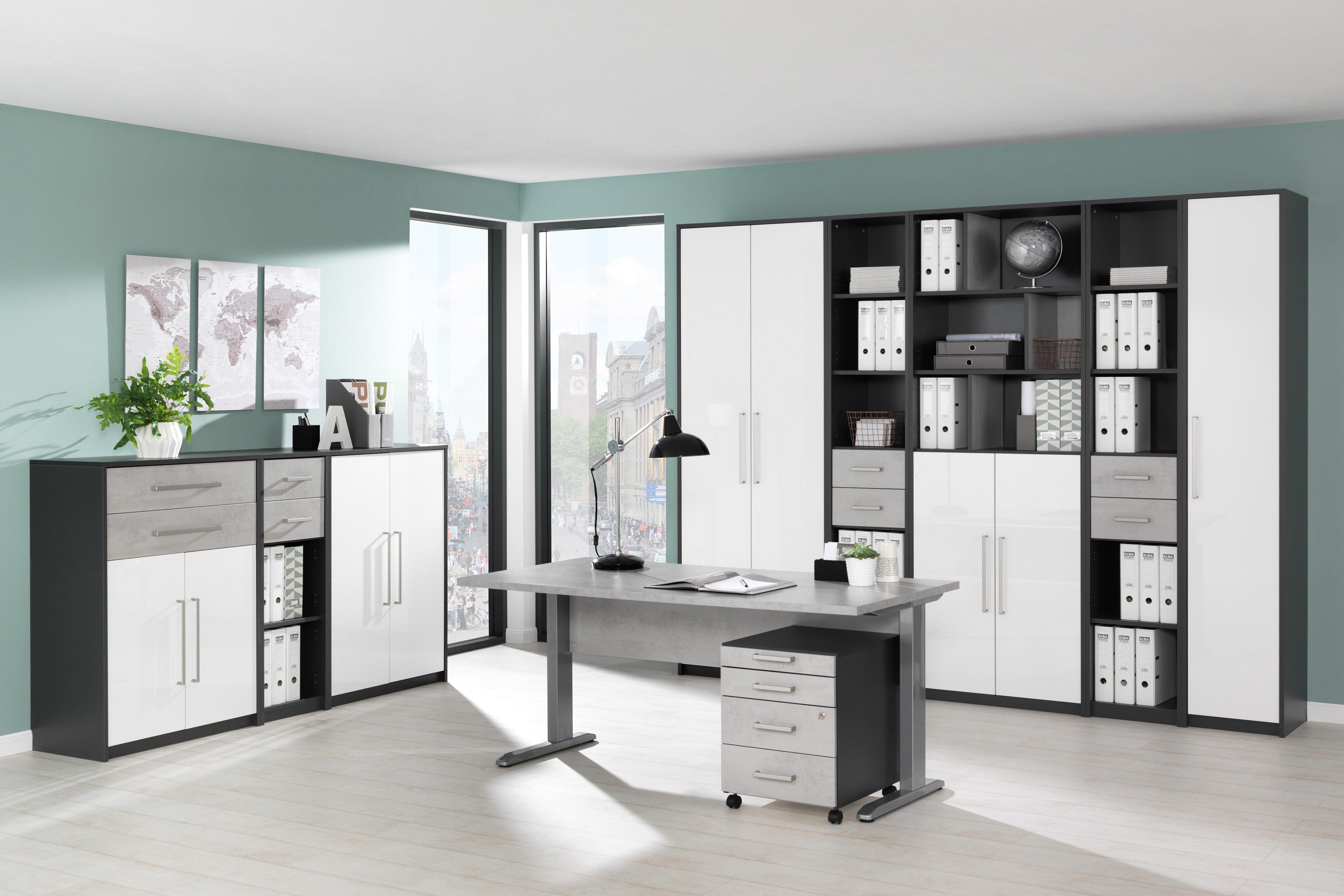Schön Schreibtisch Mit Rollcontainer Sammlung Von Planeo Von Wellemöbel -