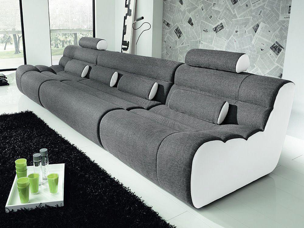 new look m bel elements sofa grau wei m bel letz ihr online shop. Black Bedroom Furniture Sets. Home Design Ideas