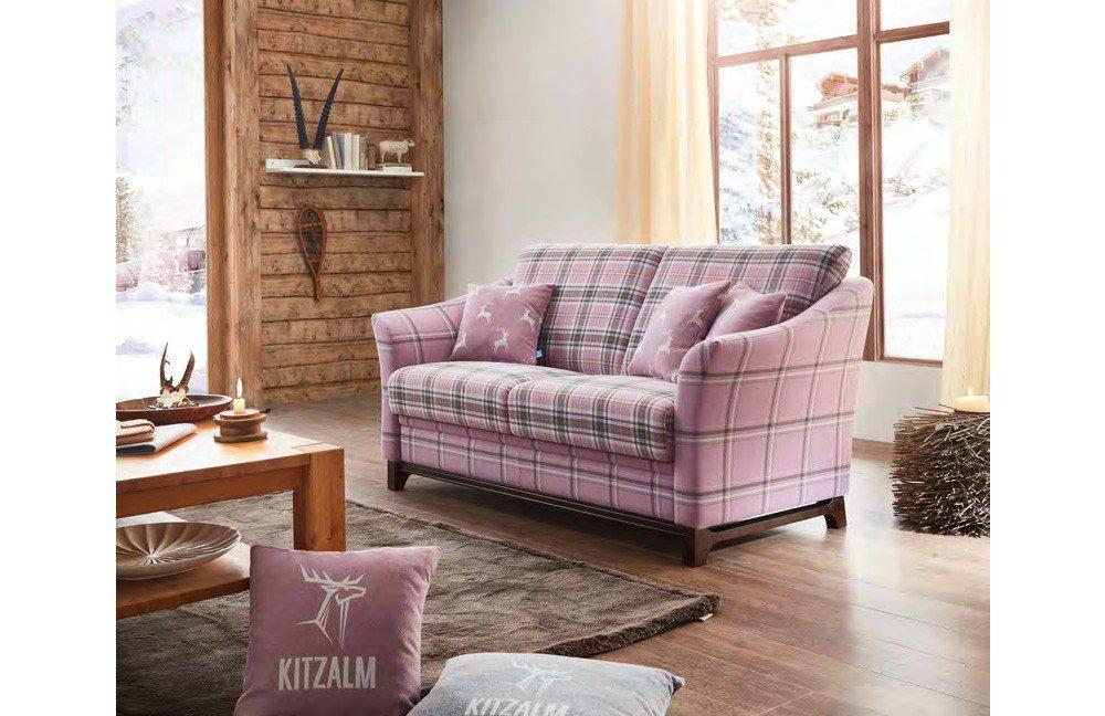 Schr no schwarzensee sofa rosa violett kariert m bel for Ohrensessel violett