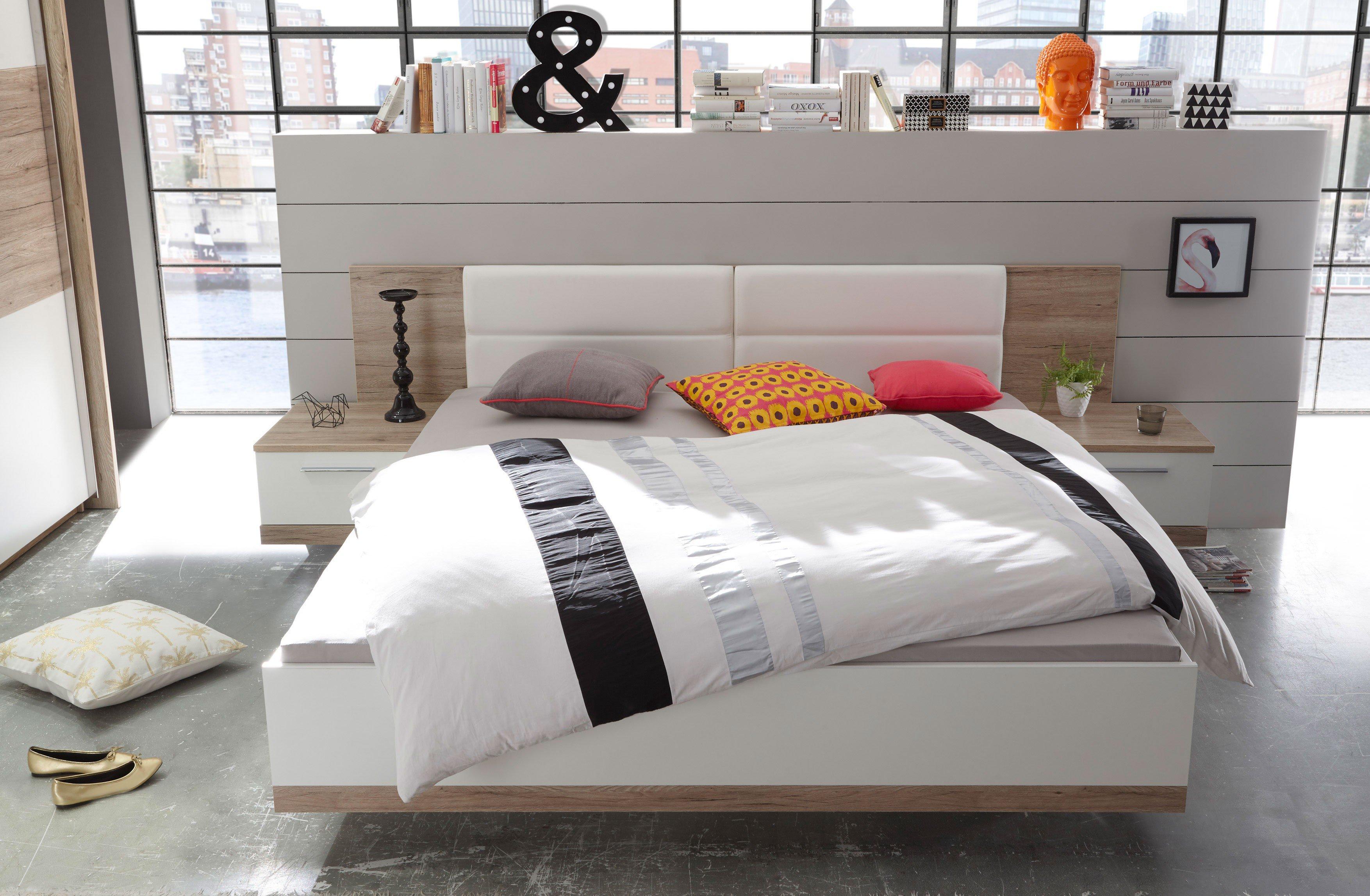 Faszinierend Bettanlage Dekoration Von Manhattan Von Schlafkontor - Eiche - Weiß