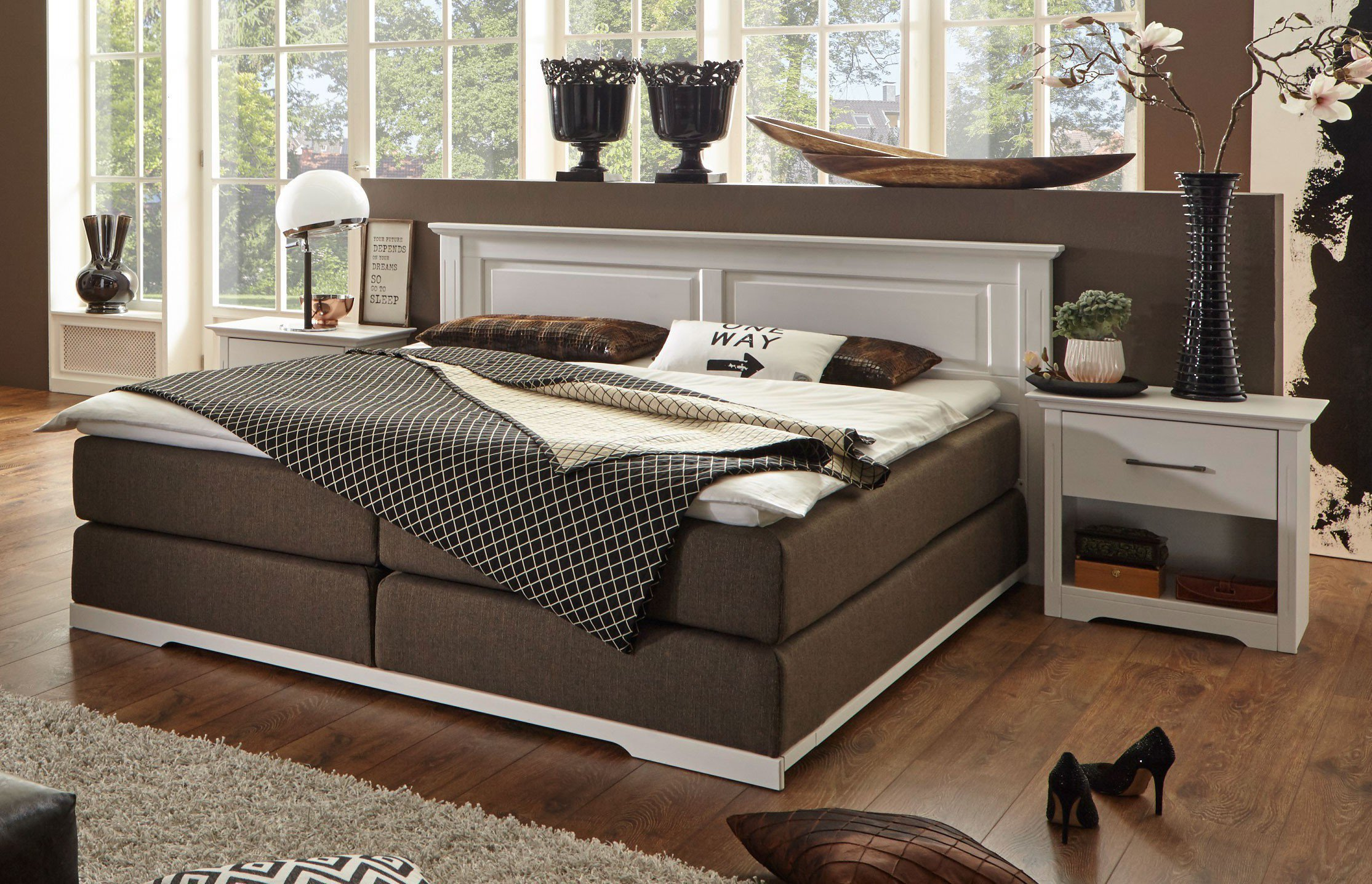 stunning boxspring bett landhausstil pictures. Black Bedroom Furniture Sets. Home Design Ideas
