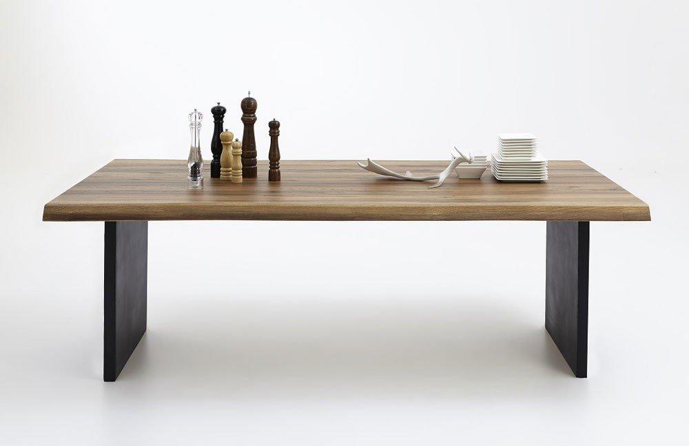 esstisch narvik mit metallwangen von skandinavische m bel. Black Bedroom Furniture Sets. Home Design Ideas