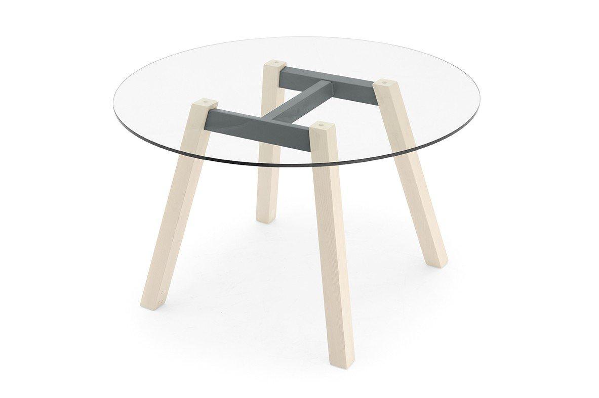 skandinavischer esstisch toivo klarglas grau m bel letz ihr online shop. Black Bedroom Furniture Sets. Home Design Ideas