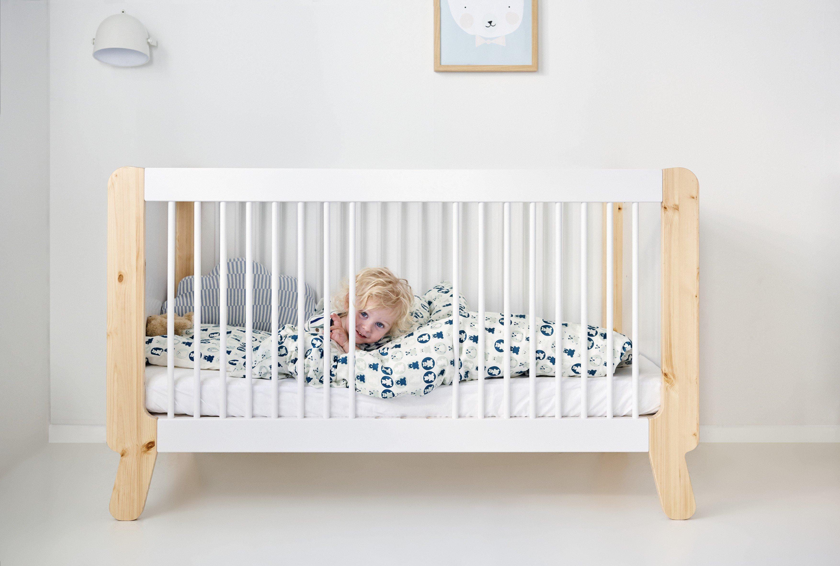 flexa n st babybett kiefer wei natur m bel letz ihr online shop. Black Bedroom Furniture Sets. Home Design Ideas