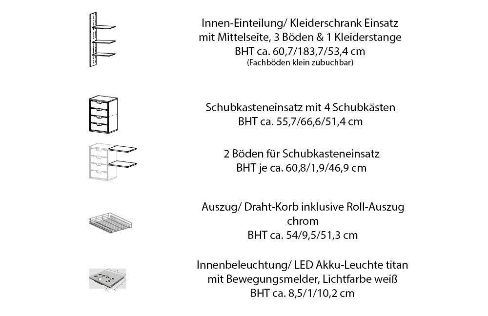 HKC Make it Schiebetürenschrank Eiche Front massiv | Möbel Letz ...