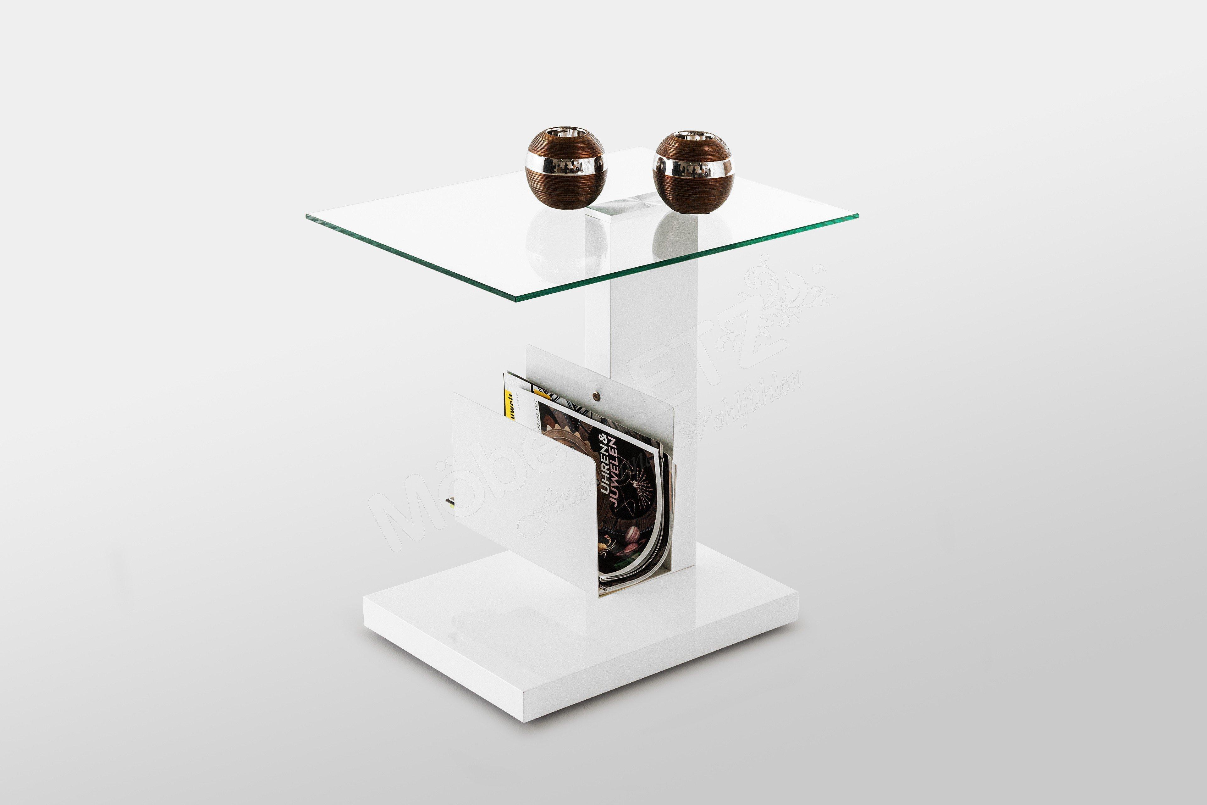 hl design beistelltisch nino in hochglanz wei m bel letz ihr online shop. Black Bedroom Furniture Sets. Home Design Ideas