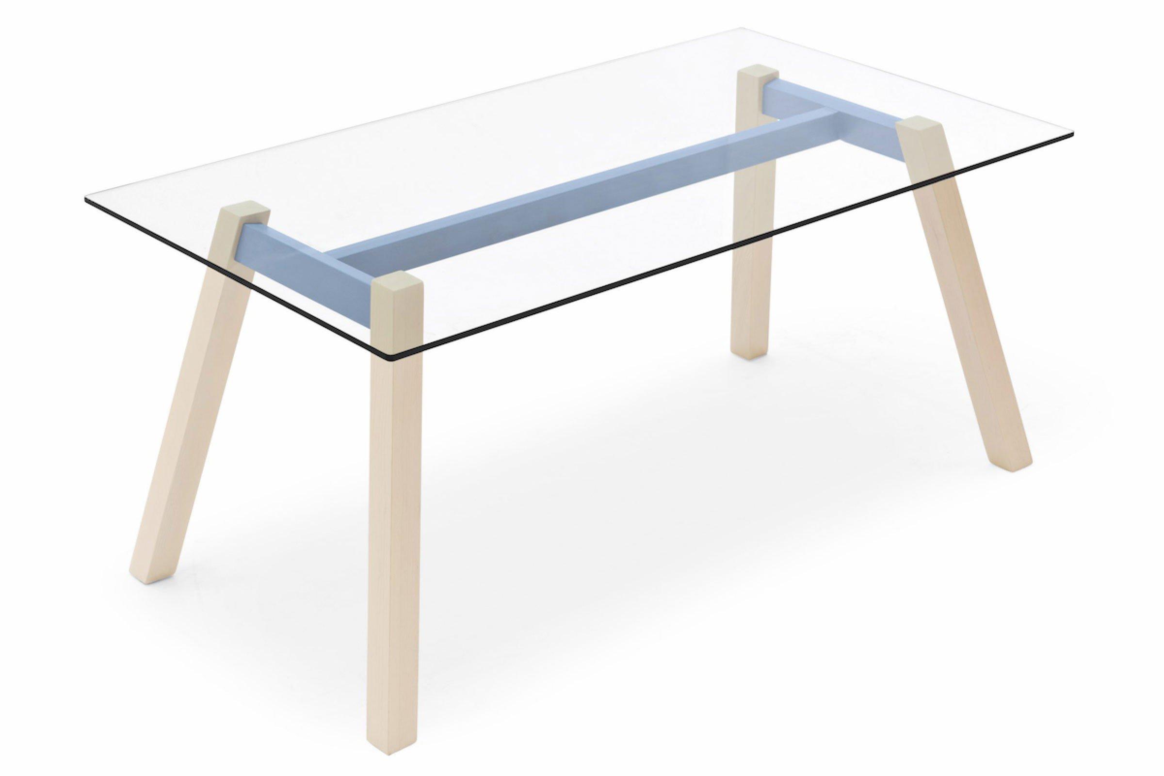 skandinavischer esstisch toivo klarglas blau m bel letz ihr online shop. Black Bedroom Furniture Sets. Home Design Ideas