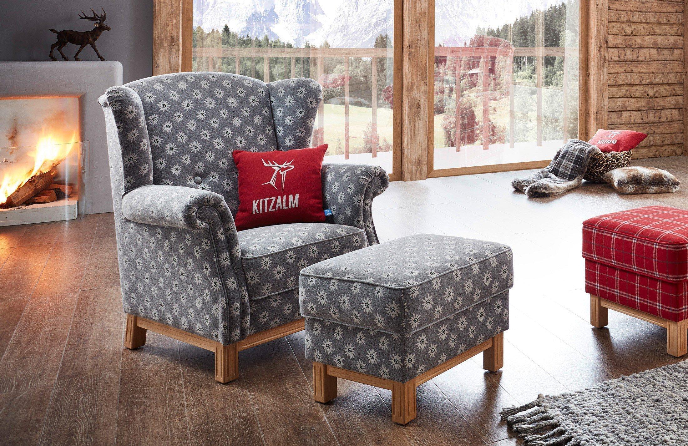 Sessel rot gemustert  Schröno Tauern Sessel grau gemustert   Möbel Letz - Ihr Online-Shop