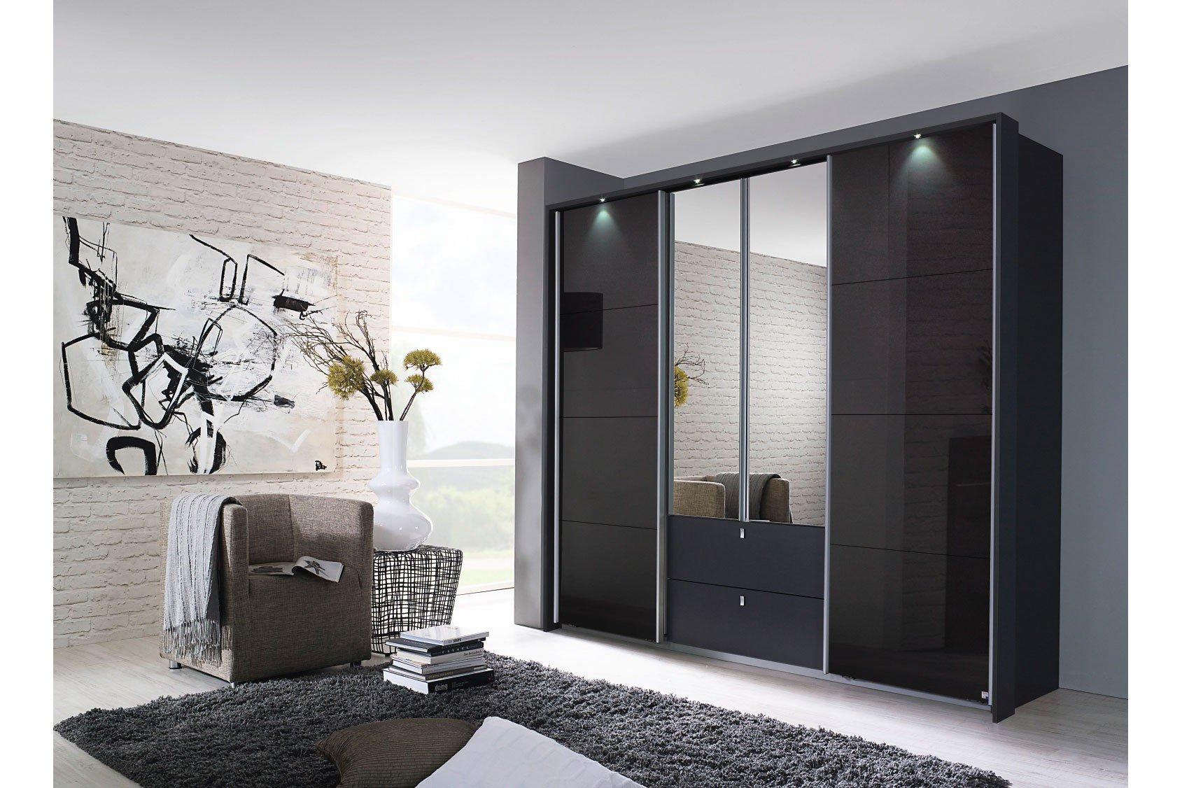 rauch kombino kombischrank front glas schwarz m bel letz ihr online shop. Black Bedroom Furniture Sets. Home Design Ideas