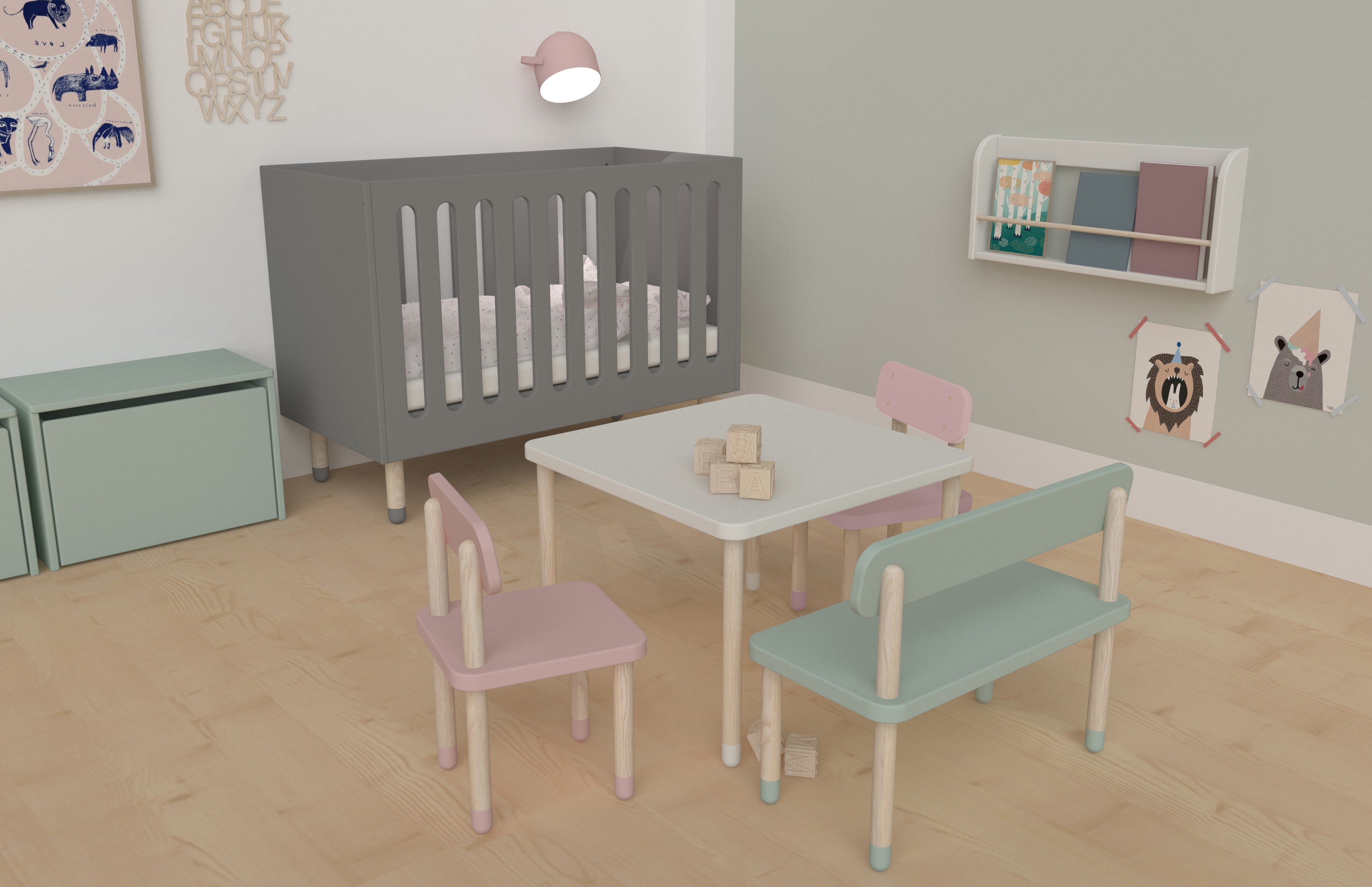 kinderbett play von flexa grau m bel letz ihr online shop. Black Bedroom Furniture Sets. Home Design Ideas