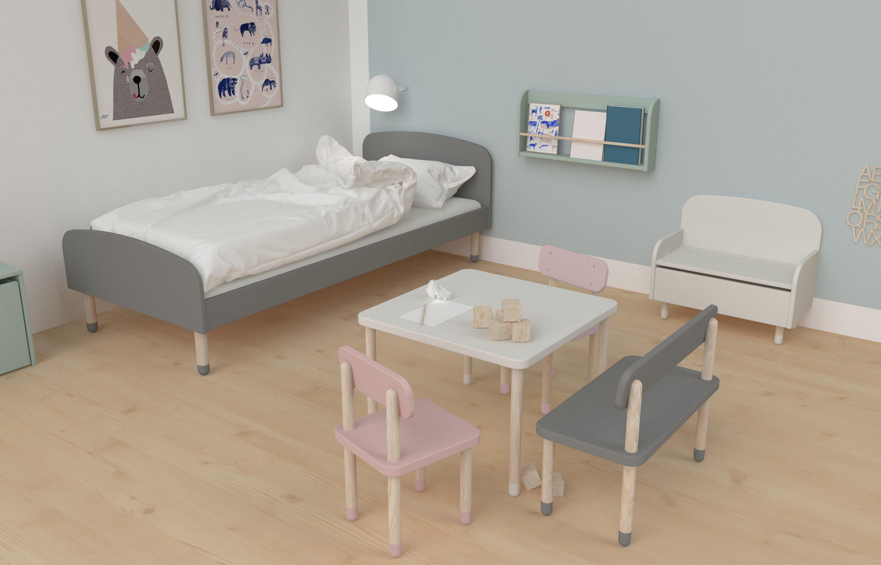Play Von FLEXA   Kindersitzgruppe   3 Teilig Tisch, Stuhl, Bank