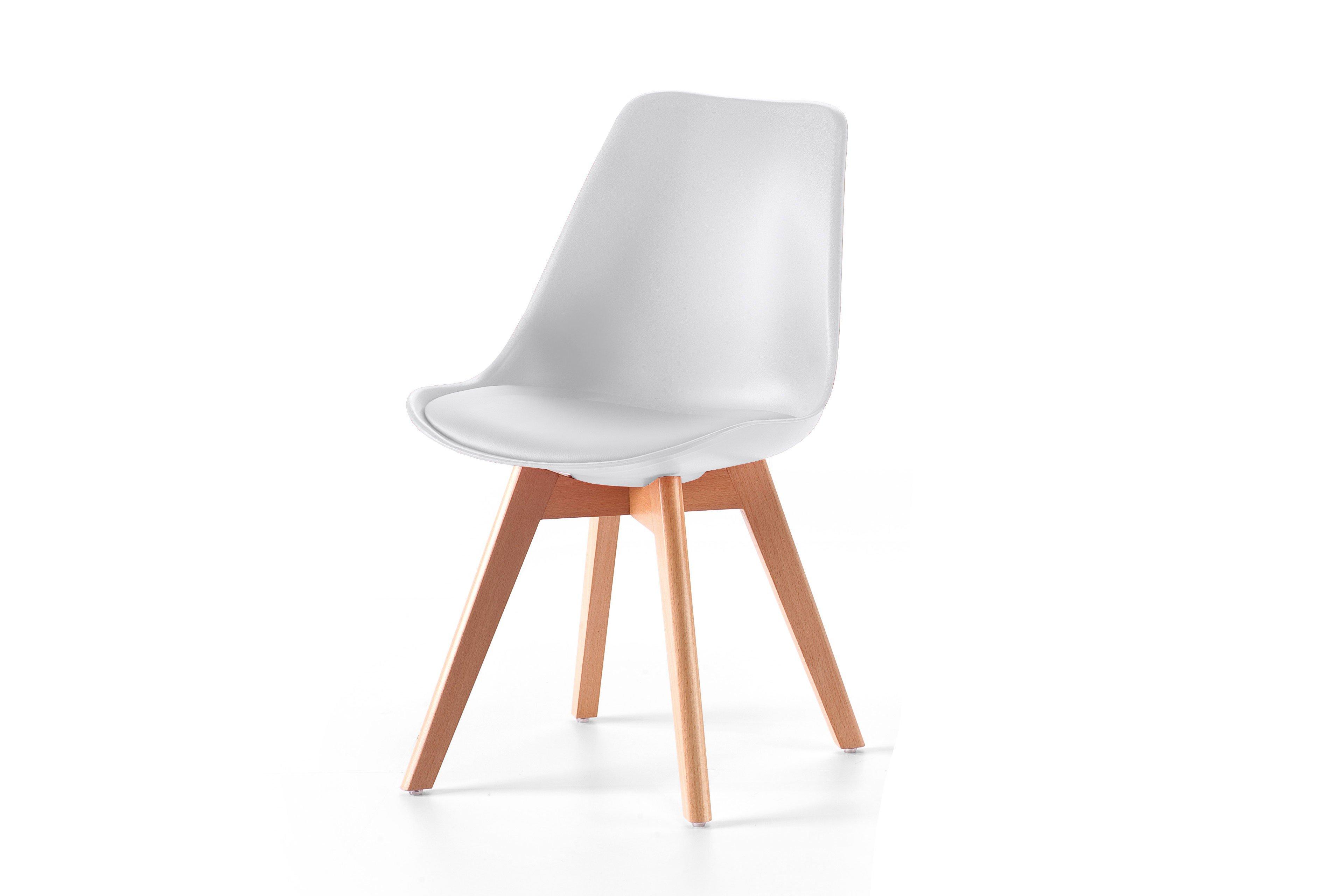 Jord Von Skandinavische Möbel   Stuhl Weiß/ Buche Massiv