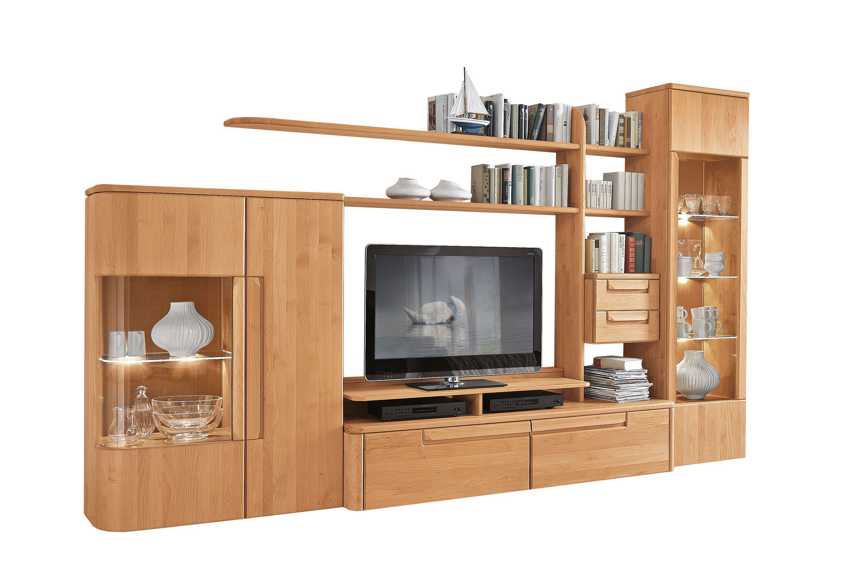 w stmann wohnwand cantana 3000 erle massiv m bel letz ihr online shop. Black Bedroom Furniture Sets. Home Design Ideas