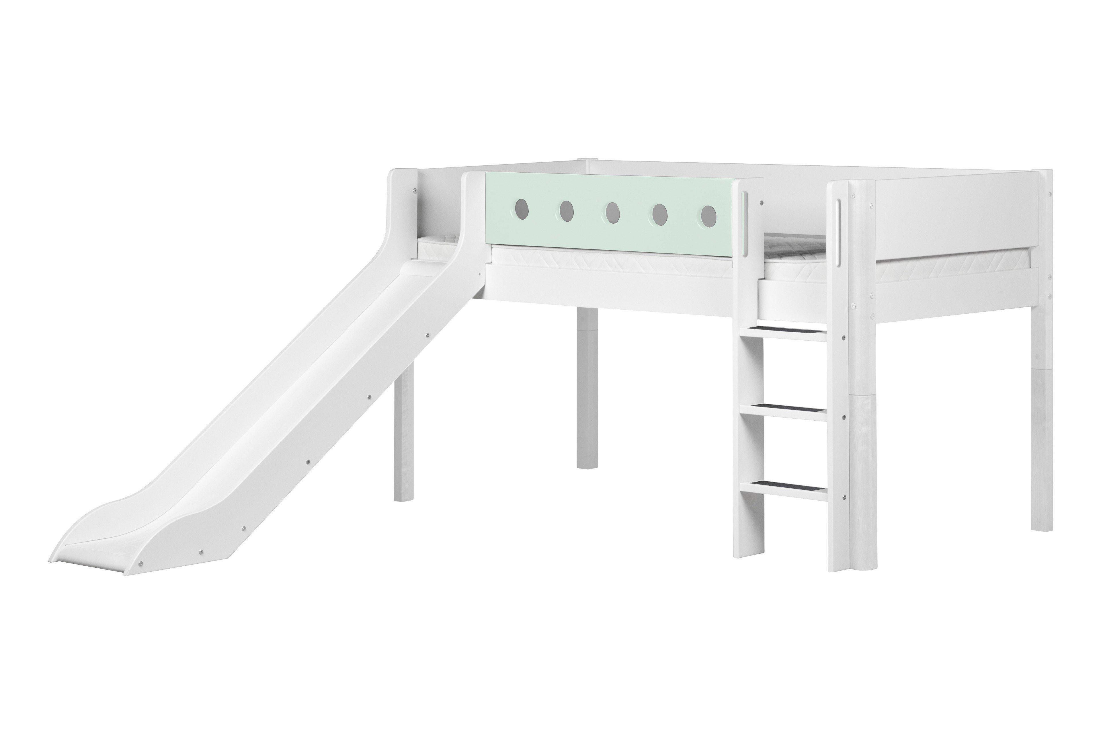 white bett mit rutsche von flexa wei mint m bel letz ihr online shop. Black Bedroom Furniture Sets. Home Design Ideas