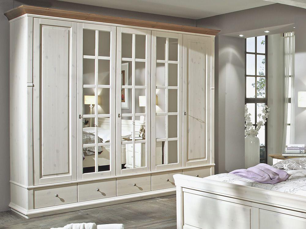 schlafzimmer set kiefer massiv mit braunen absetzungen. Black Bedroom Furniture Sets. Home Design Ideas
