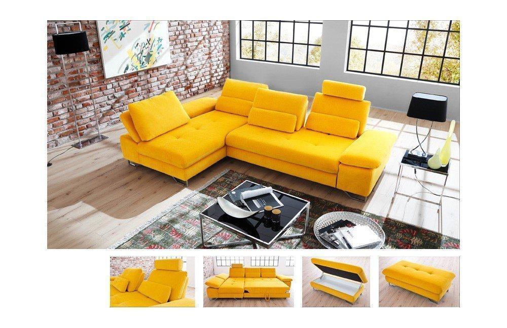 candy brasil ecksofa in gelb m bel letz ihr online shop. Black Bedroom Furniture Sets. Home Design Ideas