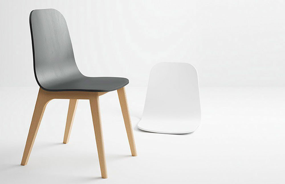 Skandinavischer Stuhl Reik Buche dunkel/ anthrazit | Möbel Letz ...