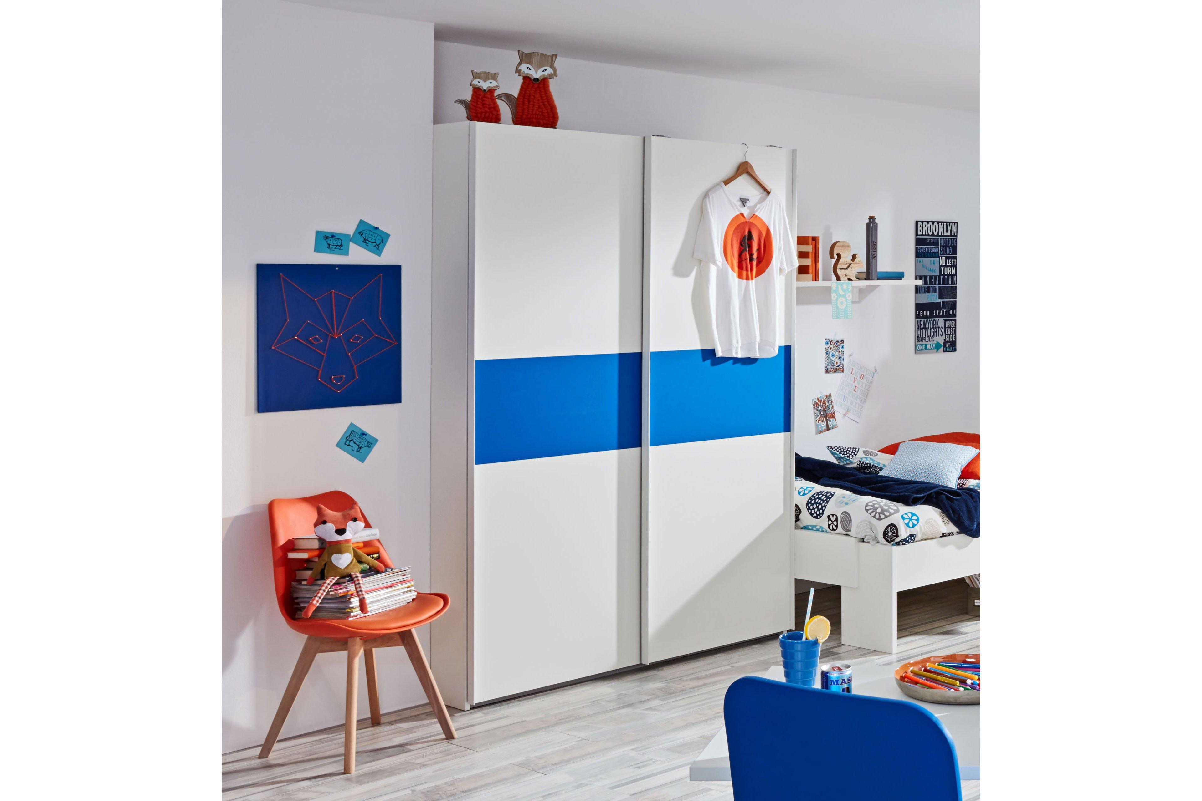 Prenneis Dustin Plus Schrank weiß - blau   Möbel Letz - Ihr Online ...