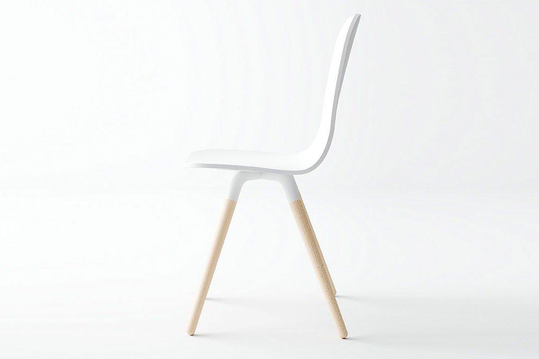 Skandinavischer Stuhl Maarja Holzsitz weiß | Möbel Letz - Ihr Online ...