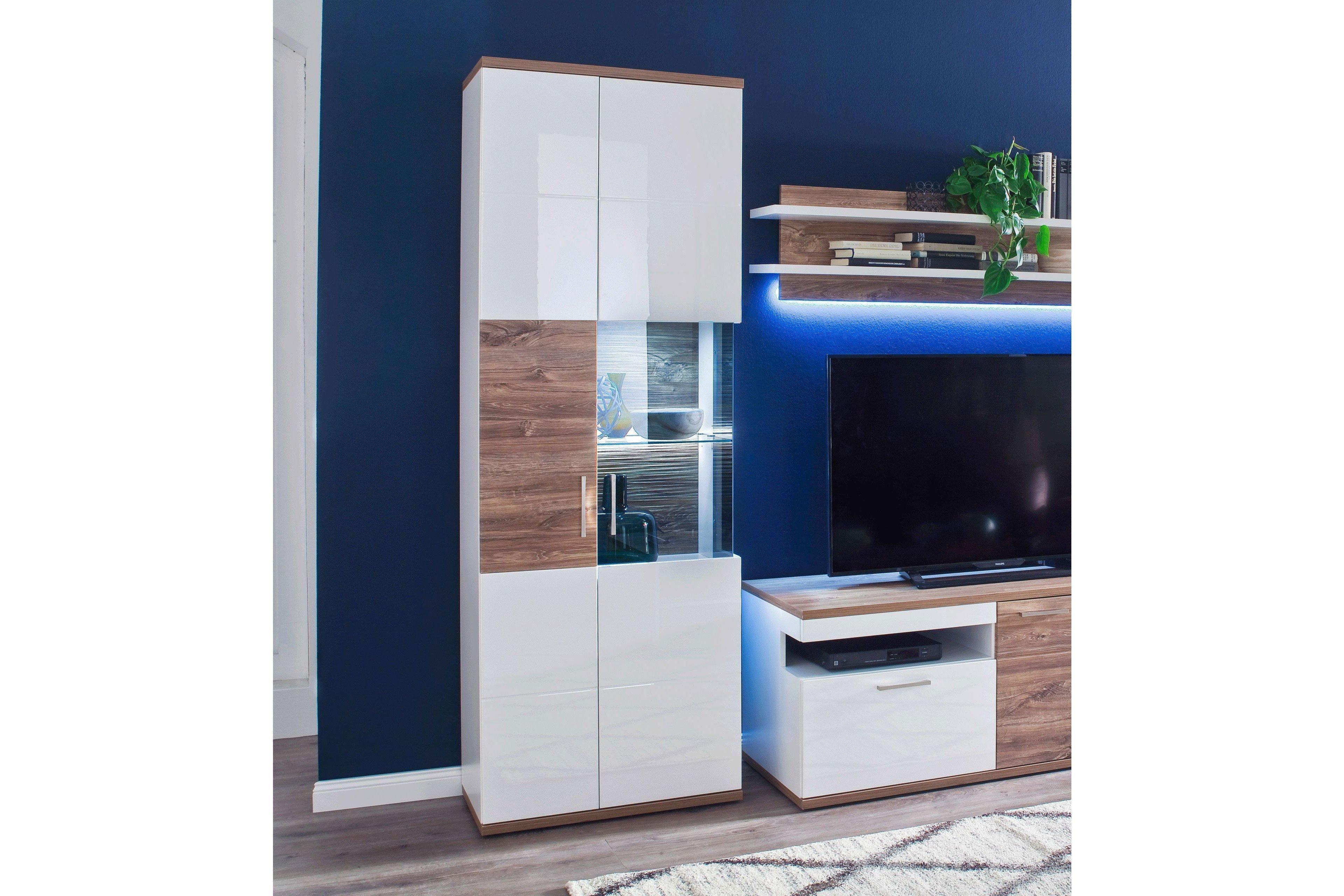 Mca Vitrine Luzern Weiß Hochglanz Möbel Letz Ihr Online Shop