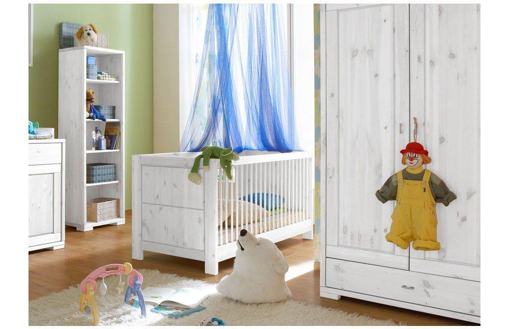 wohn gl ck lich holz babybett vita kiefer wei m bel letz ihr online shop. Black Bedroom Furniture Sets. Home Design Ideas
