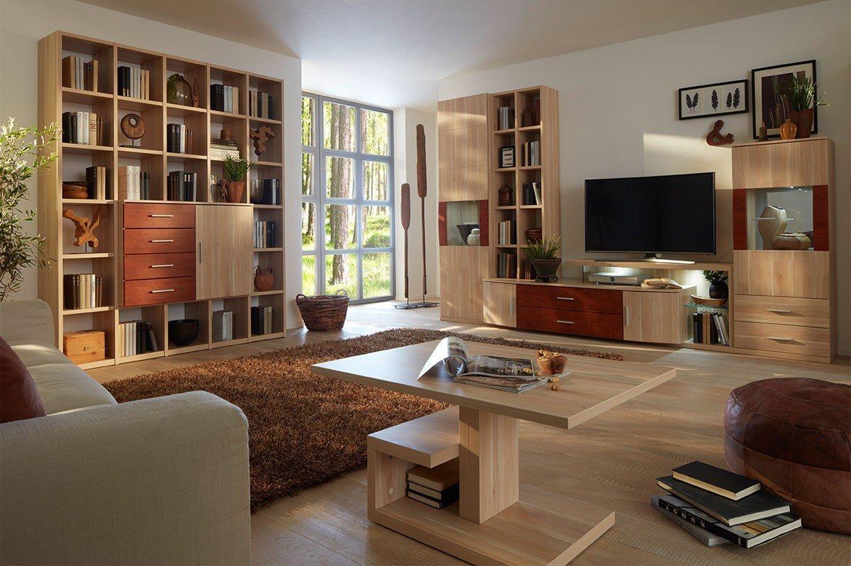 prenneis wohnwand miami plus apfelbaum wildapfel m bel letz ihr online shop. Black Bedroom Furniture Sets. Home Design Ideas