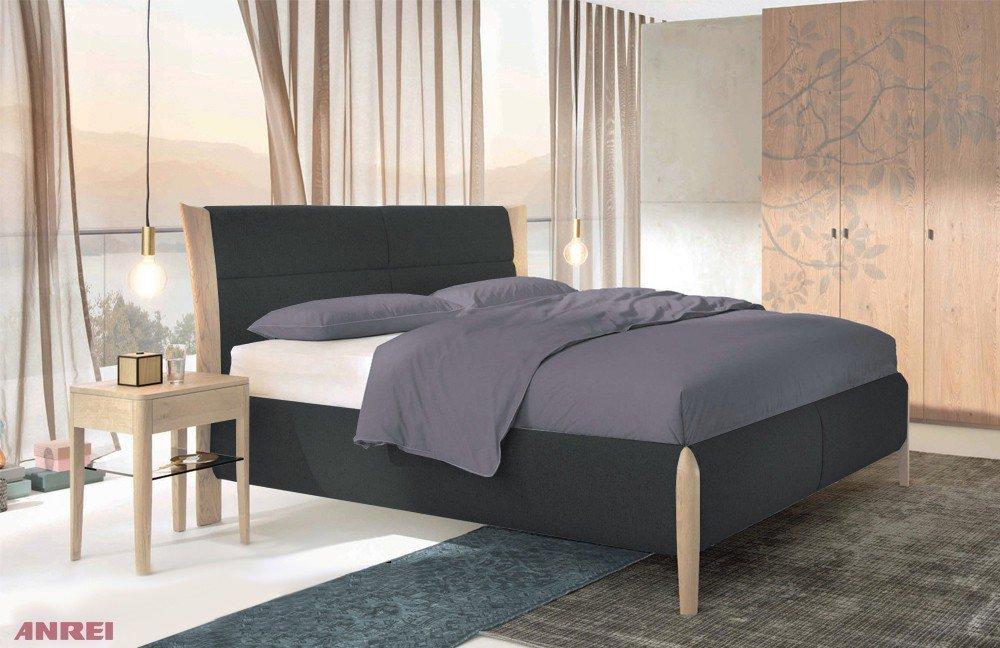 ANREI Mevisto Bett schwarz/ Asteiche weiß | Möbel Letz - Ihr Online-Shop