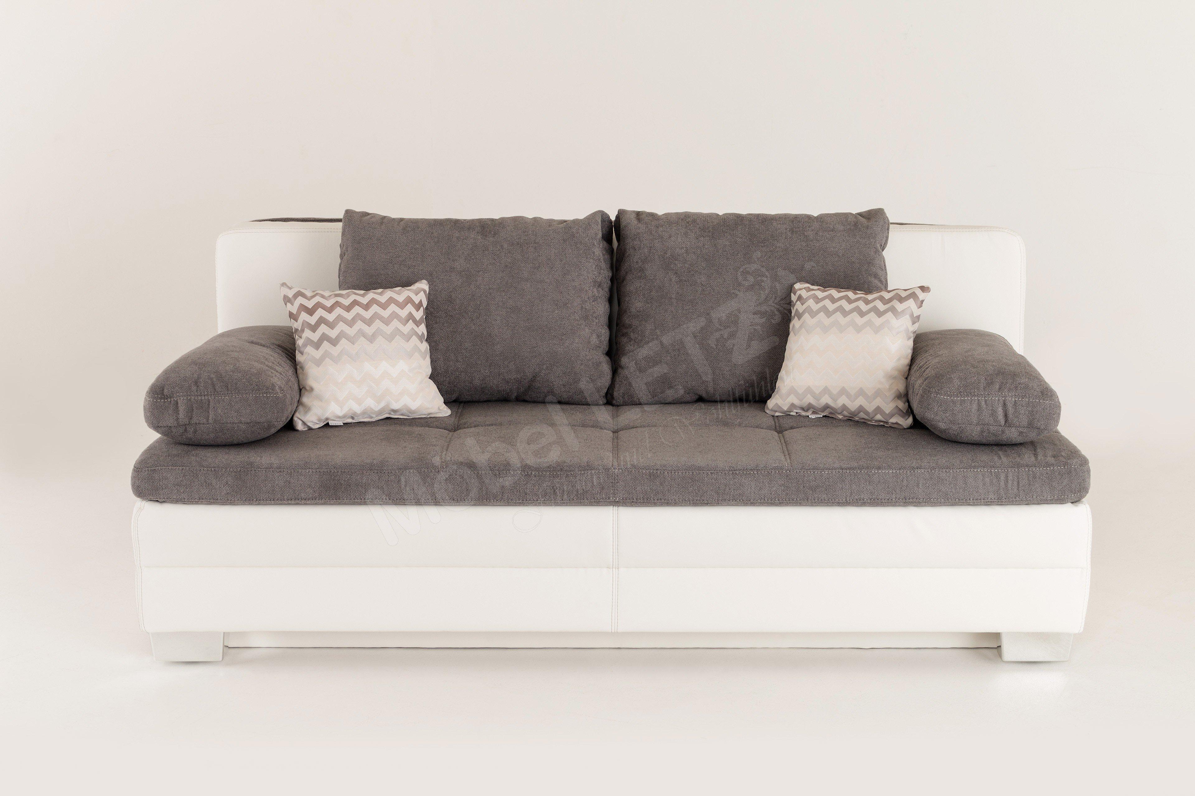 jockenh fer lincoln sabrina schlafsofa in grau wei mit bettkasten m bel letz ihr online shop. Black Bedroom Furniture Sets. Home Design Ideas
