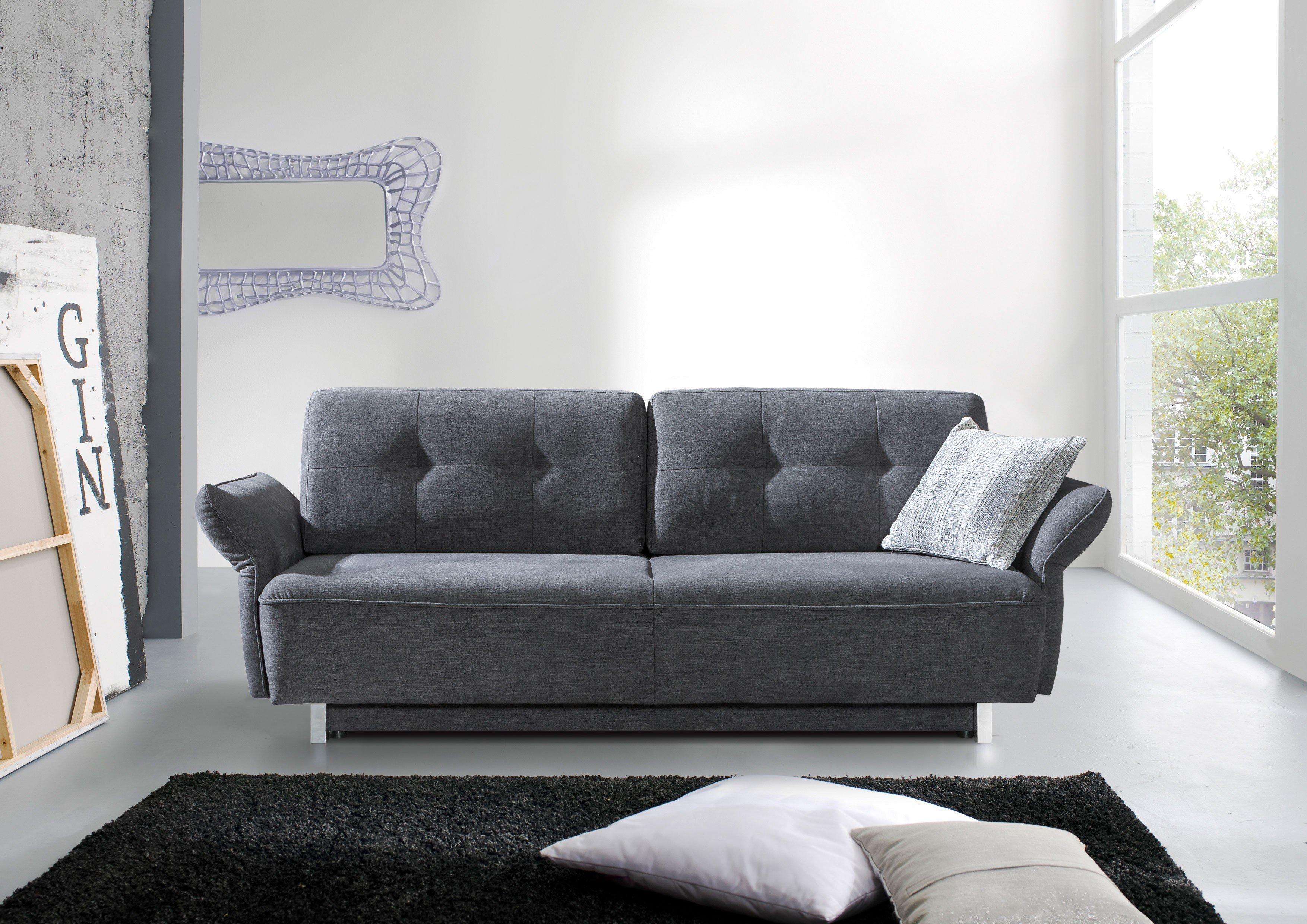restyl bonita schlafsofa in anthrazit mit bettkasten m bel letz ihr online shop. Black Bedroom Furniture Sets. Home Design Ideas