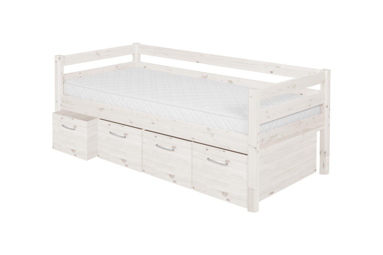 schubkastenbett kiefer massiv wei skandinavische m bel. Black Bedroom Furniture Sets. Home Design Ideas