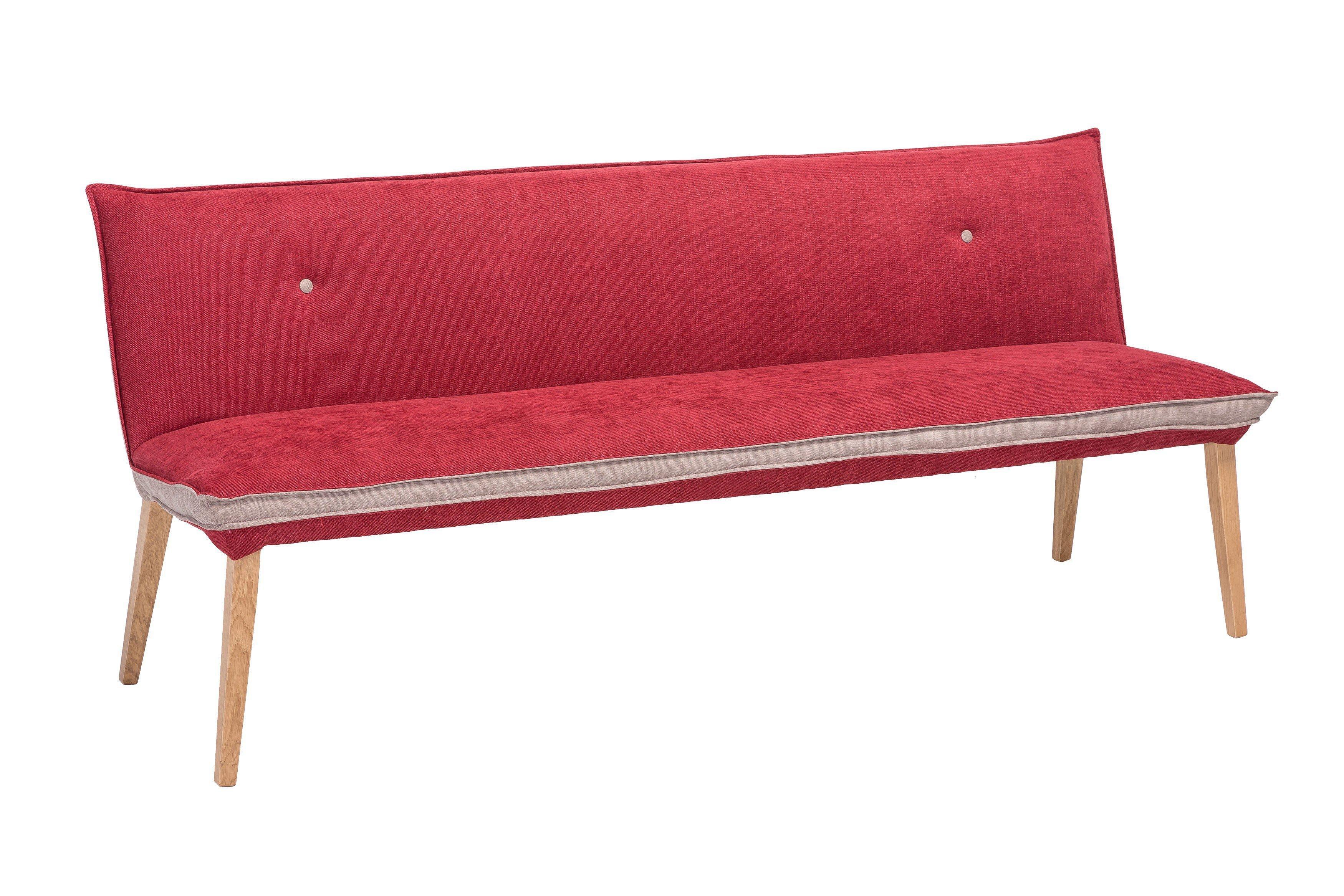 Genua Von Standard Furniture   Bank In Eiche/ Rosso
