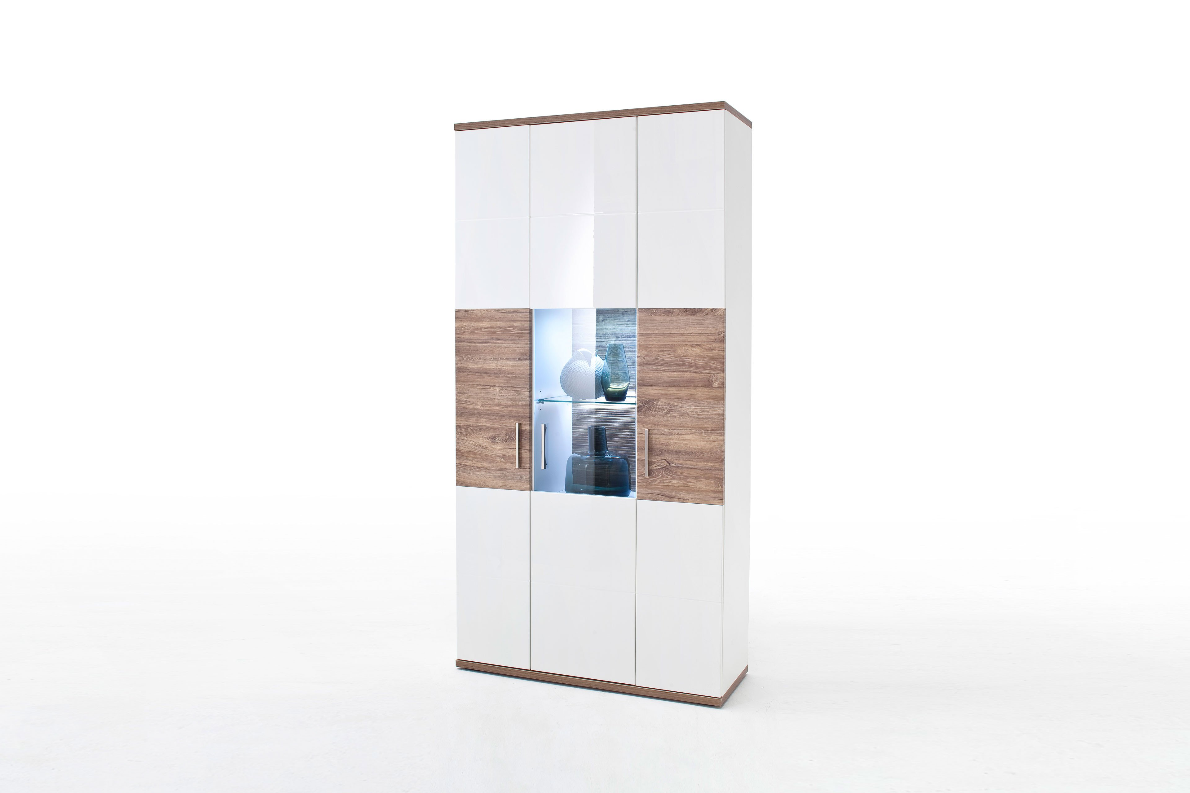 Mca Kombi Vitrine Luzern Sterling Oak Weiß Möbel Letz Ihr