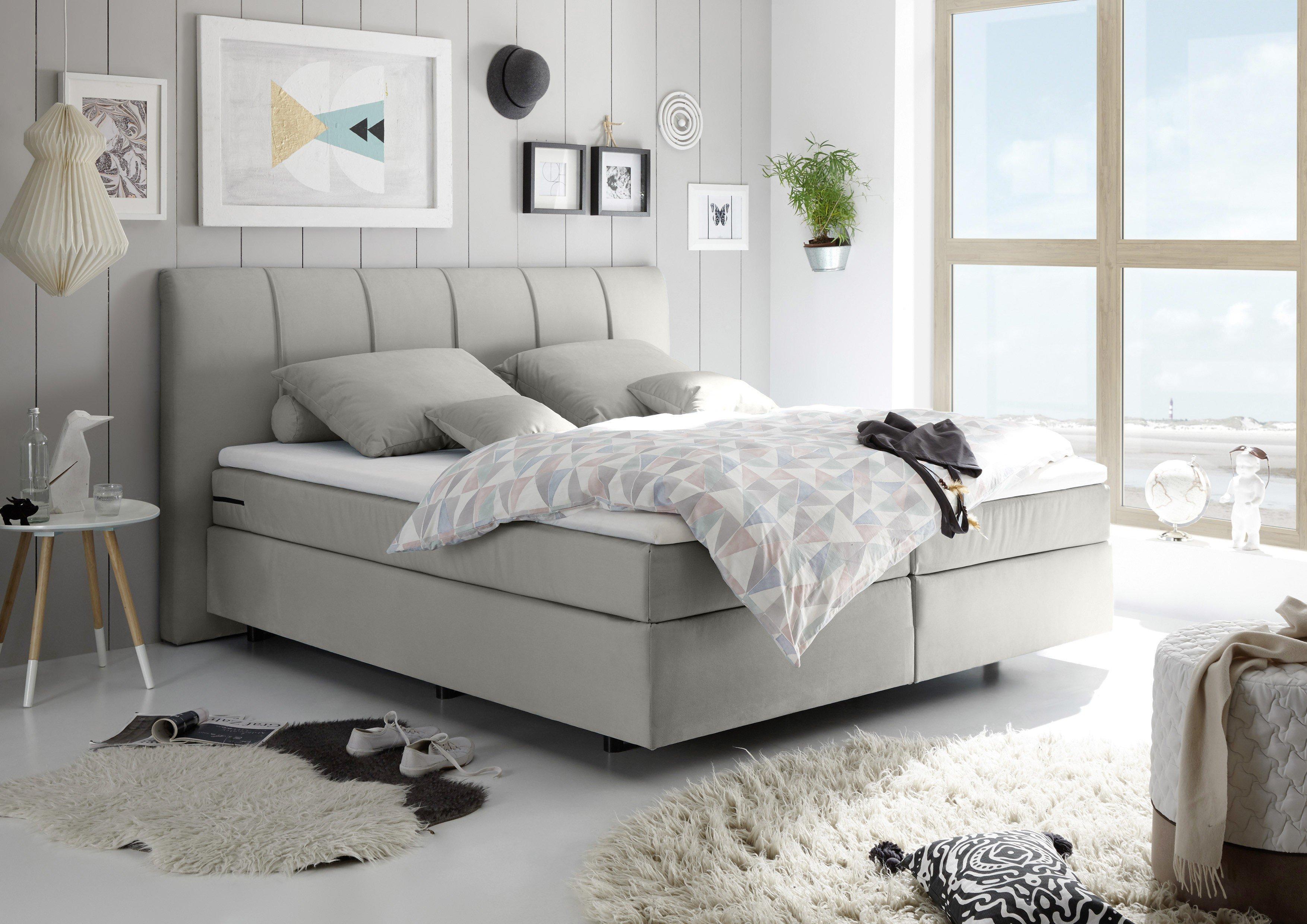 boxspringbett taos von black red white in grau m bel. Black Bedroom Furniture Sets. Home Design Ideas