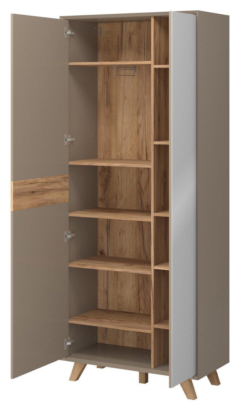 skandinavische m bel garderobe aleksi 2348 245 m bel letz ihr online shop. Black Bedroom Furniture Sets. Home Design Ideas