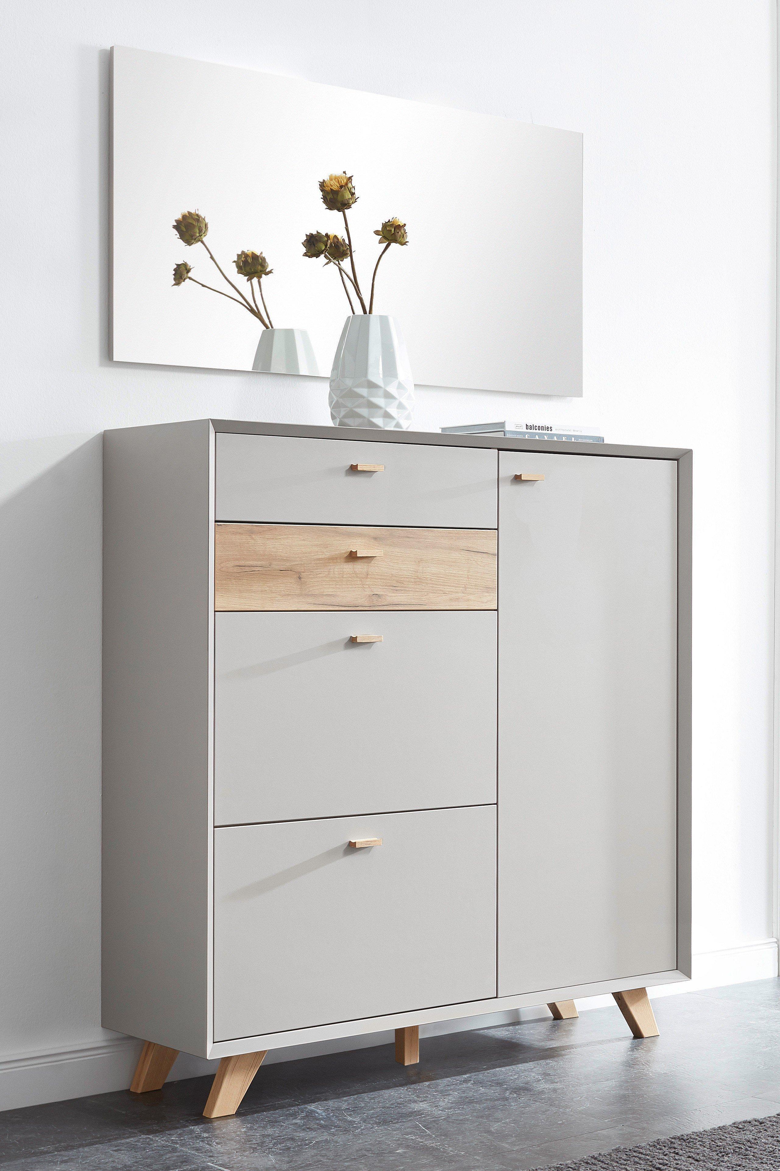 skandinavische garderobe aleksi grau eiche m bel letz ihr online shop. Black Bedroom Furniture Sets. Home Design Ideas