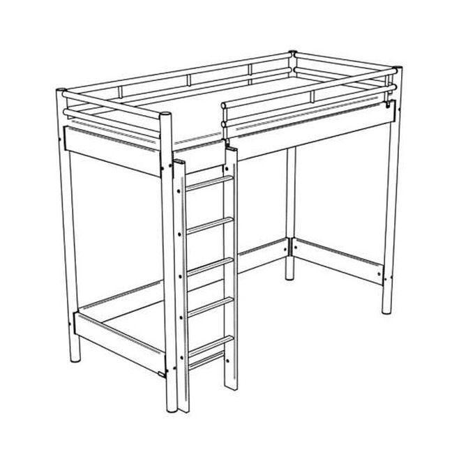 hasena space concept hochbett eisenfarbig m bel letz ihr online shop. Black Bedroom Furniture Sets. Home Design Ideas