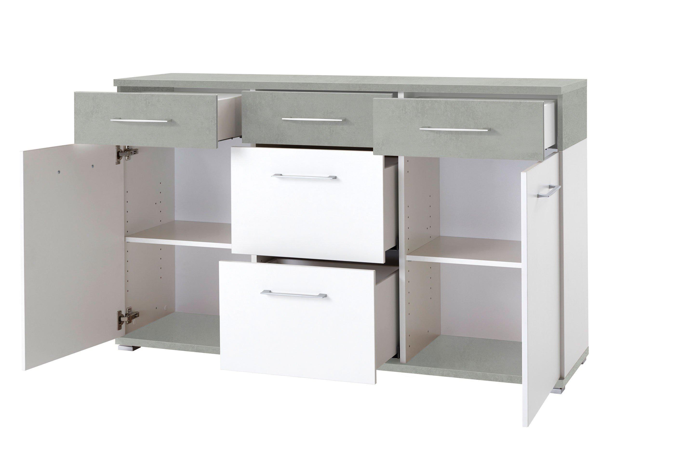 germania sideboard gw topix wei betonoptik m bel letz ihr online shop. Black Bedroom Furniture Sets. Home Design Ideas