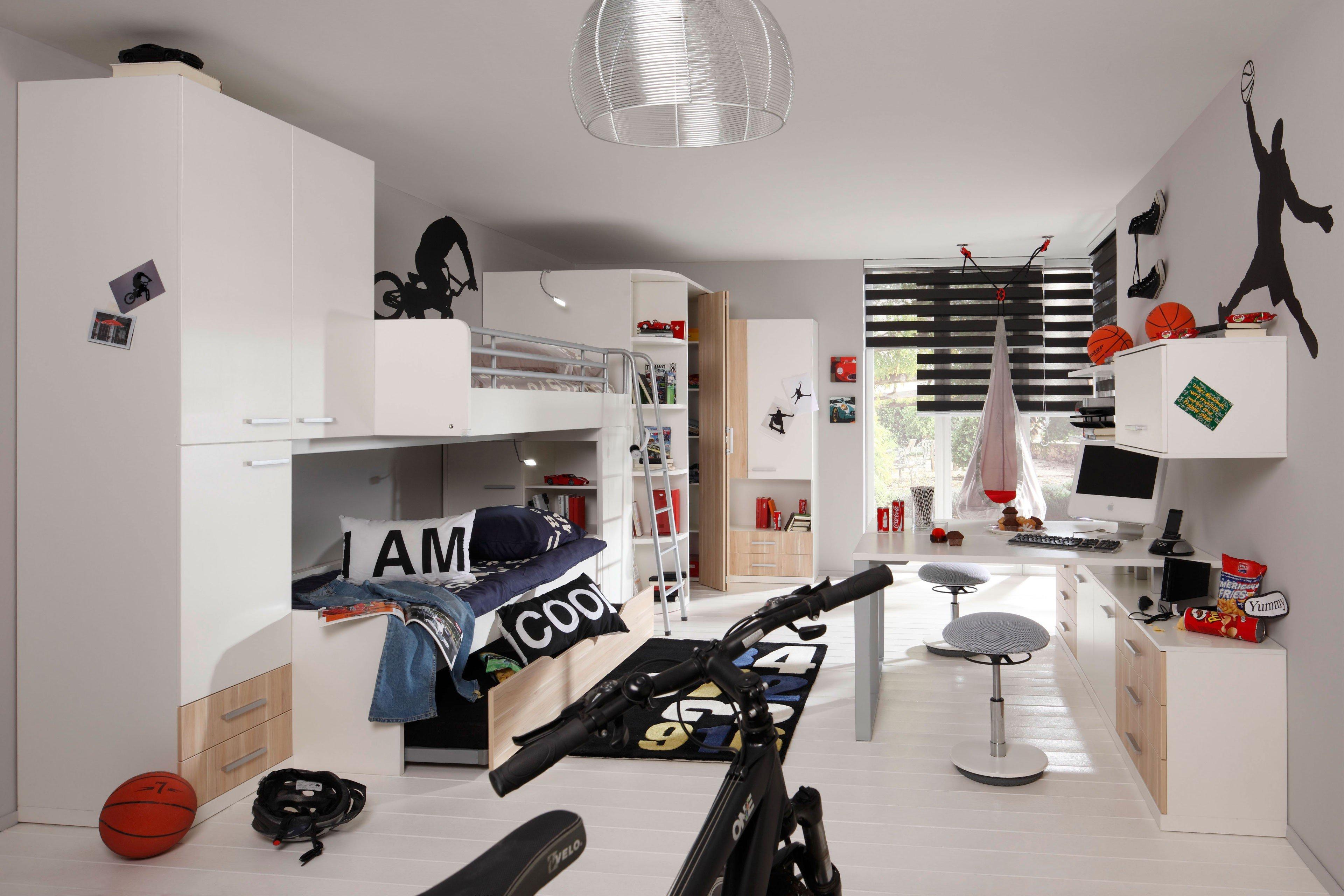 prenneis jugendzimmer hochbett e t two plus wei m bel. Black Bedroom Furniture Sets. Home Design Ideas