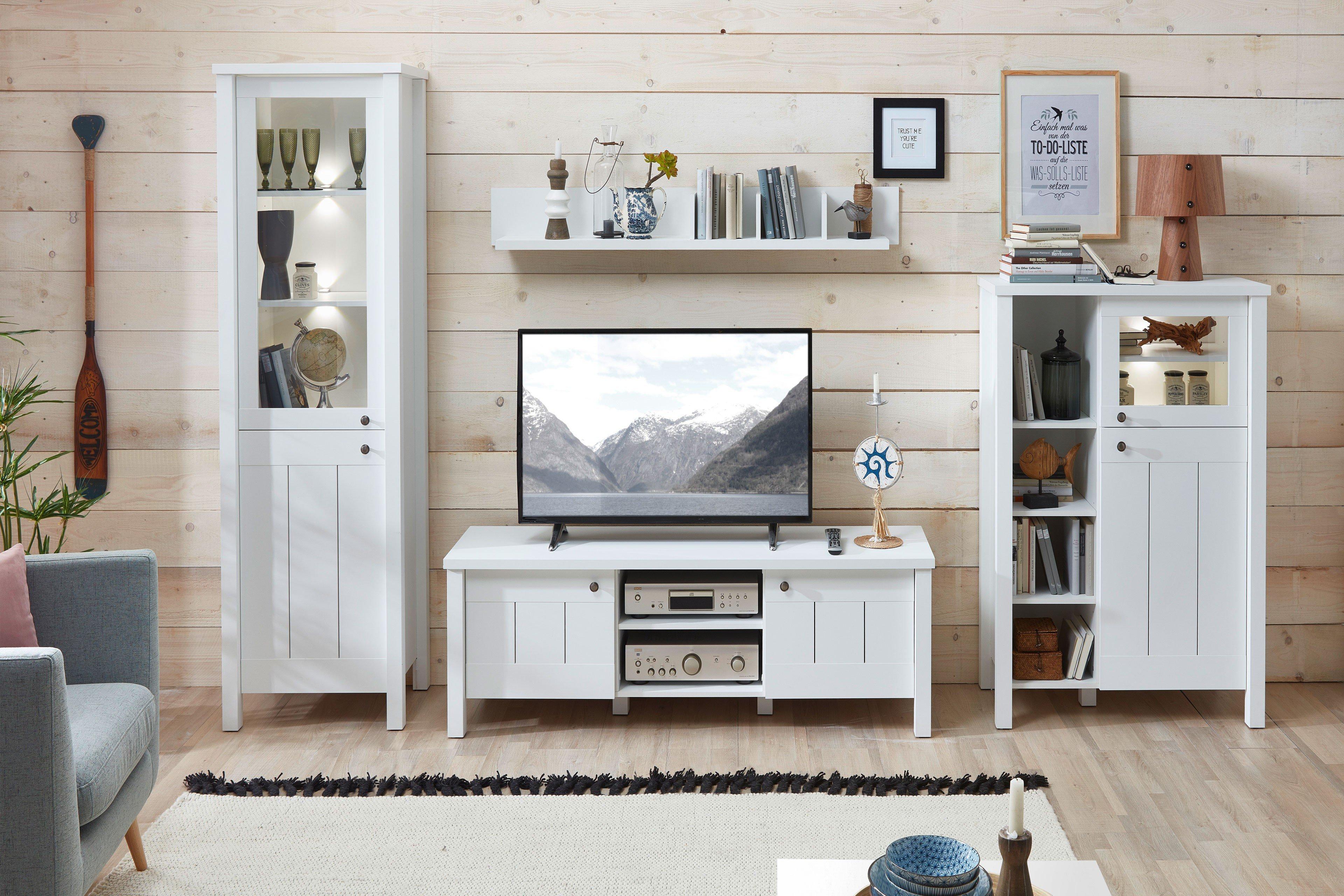 Wohnwand Weiss Planen : Innostyle wohnwand siena weiß supermatt möbel letz ihr