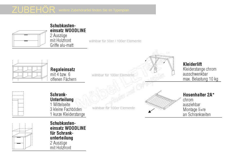 nolte concept me schrank 200 wei 5 t rig m bel letz ihr online shop. Black Bedroom Furniture Sets. Home Design Ideas
