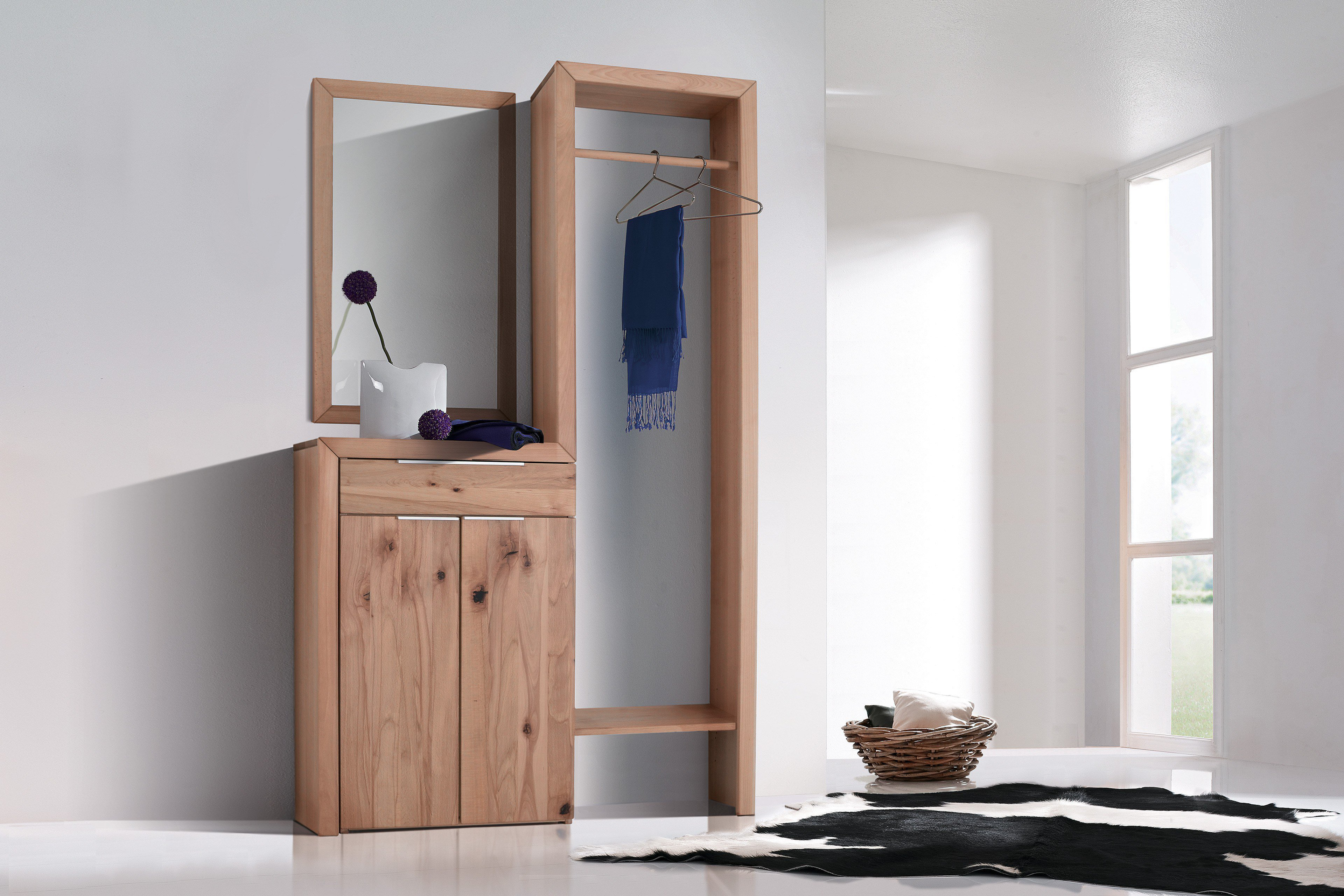 skandinavische garderobe laerke massiv kernbuche m bel letz ihr online shop. Black Bedroom Furniture Sets. Home Design Ideas