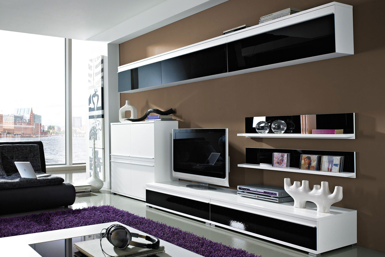 germania wohnwand freestyle wei schwarz m bel letz ihr online shop. Black Bedroom Furniture Sets. Home Design Ideas