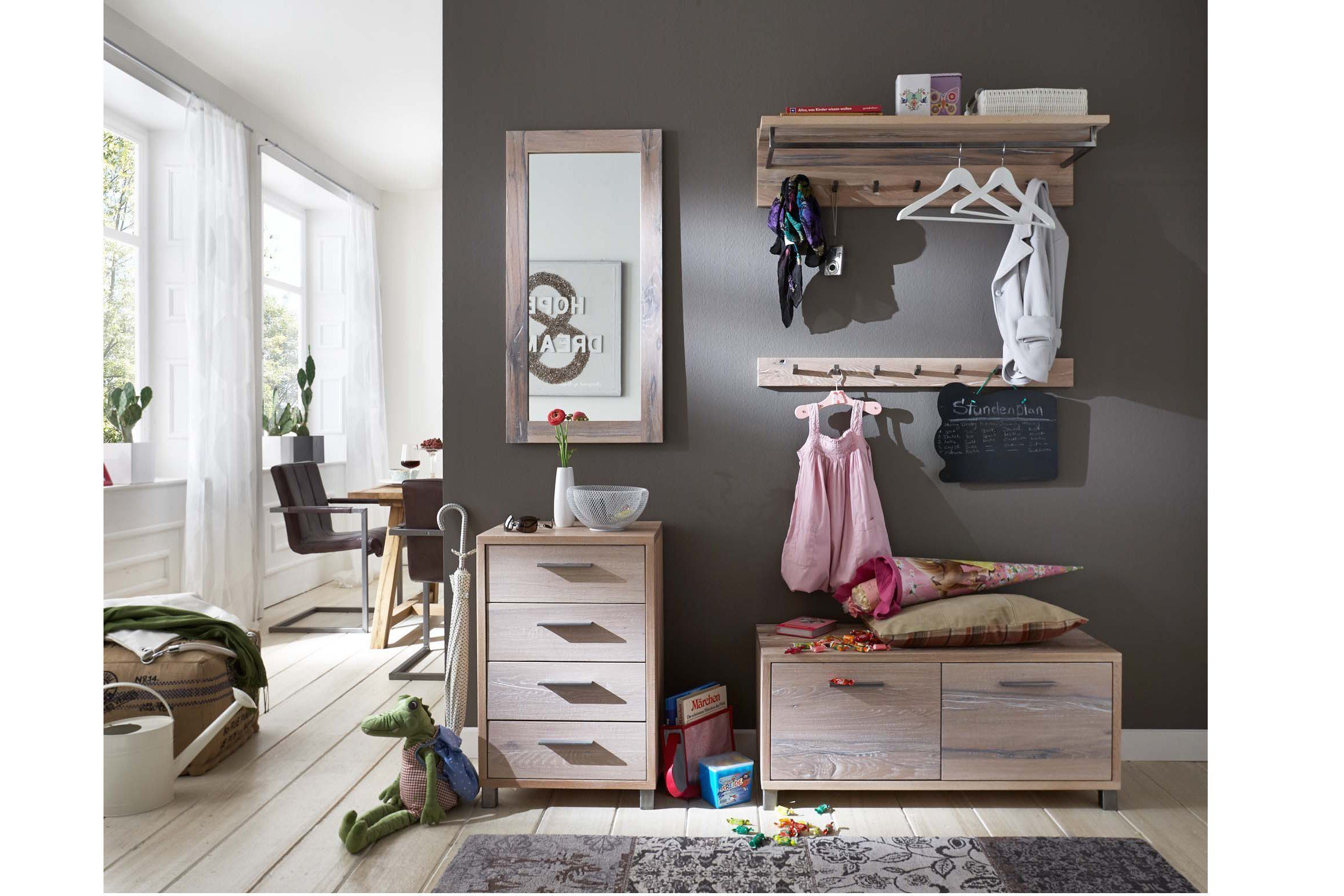 garderobe ragna balkeneiche white wash skandinavische. Black Bedroom Furniture Sets. Home Design Ideas