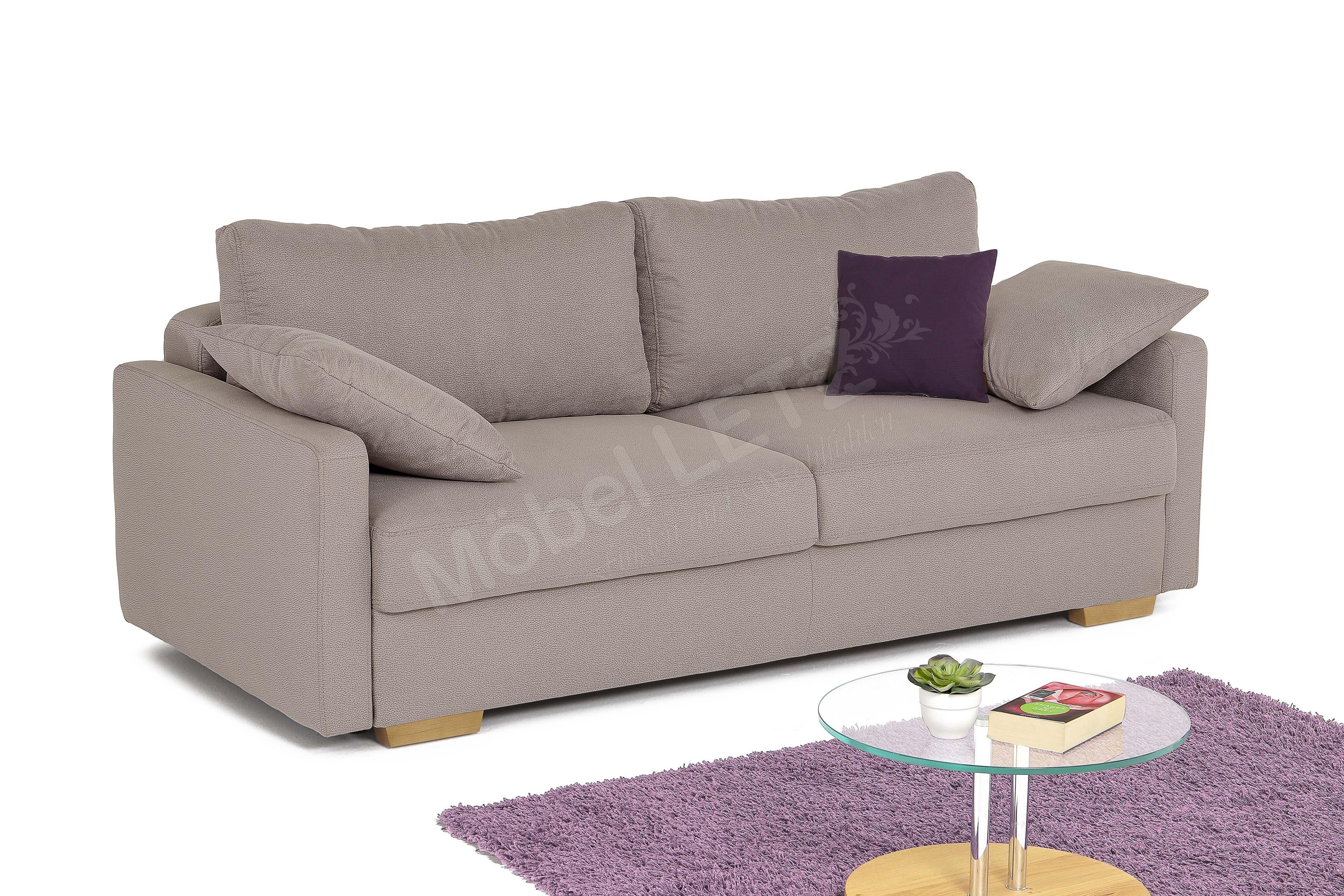 nova via amadeo de luxe sofa taupe m bel letz ihr online shop. Black Bedroom Furniture Sets. Home Design Ideas